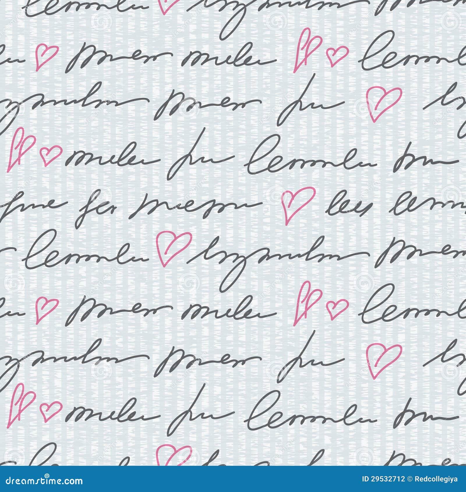 Teste padrão com elementos da escrita da mão