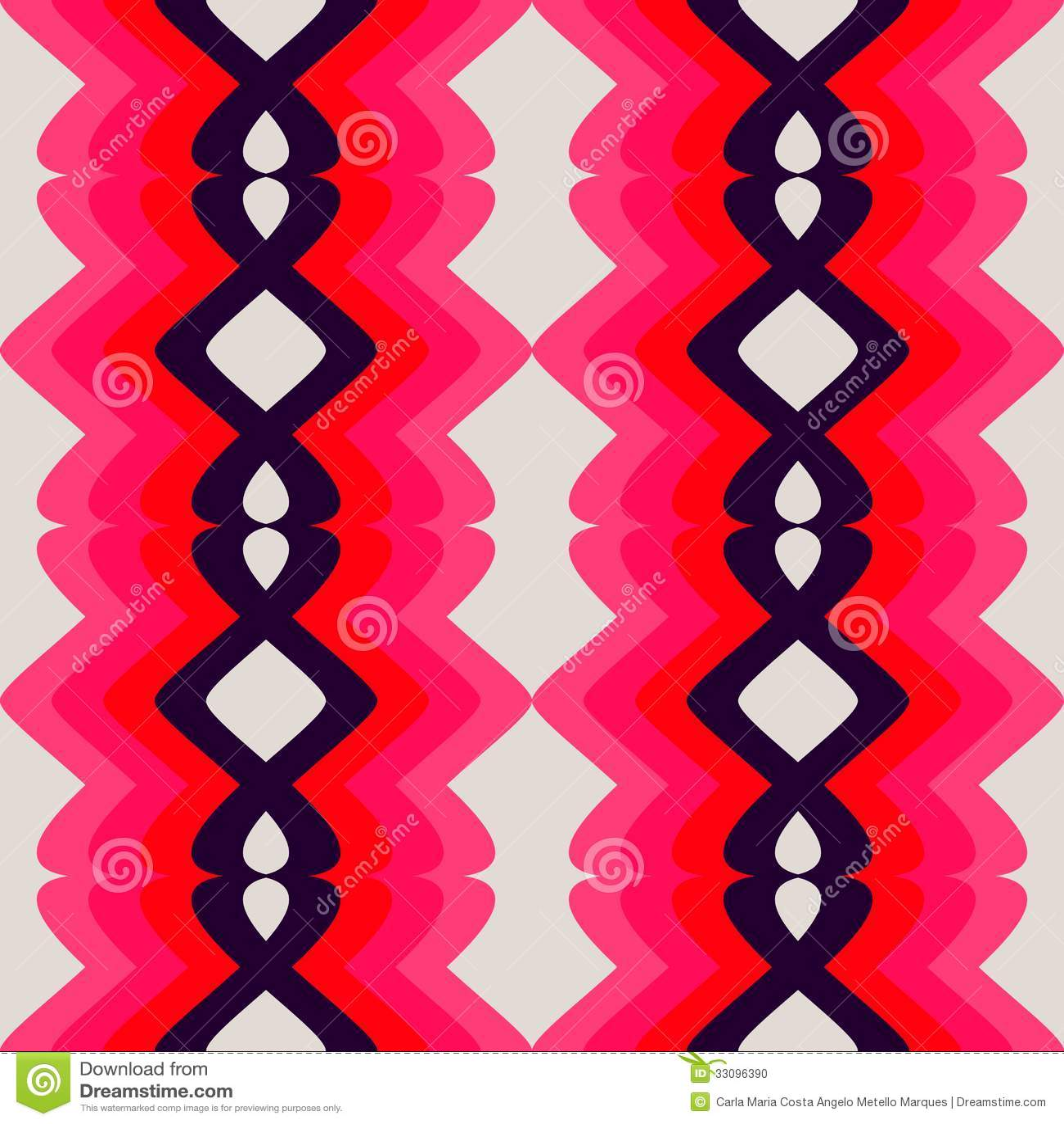 Teste padrão cor-de-rosa retro
