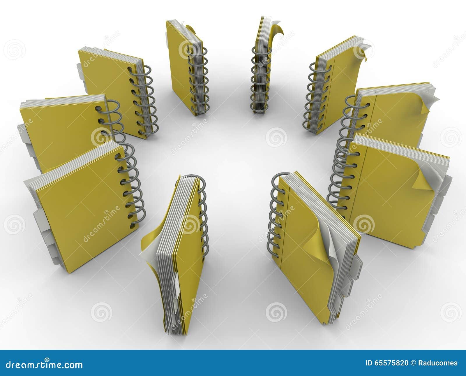 Teste padrão da circular dos cadernos espirais