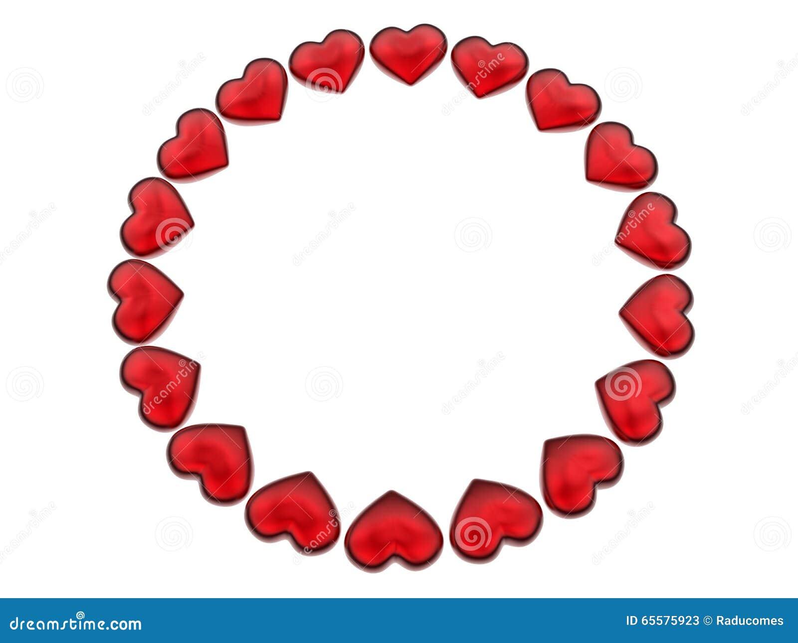 Teste padrão da circular dos corações