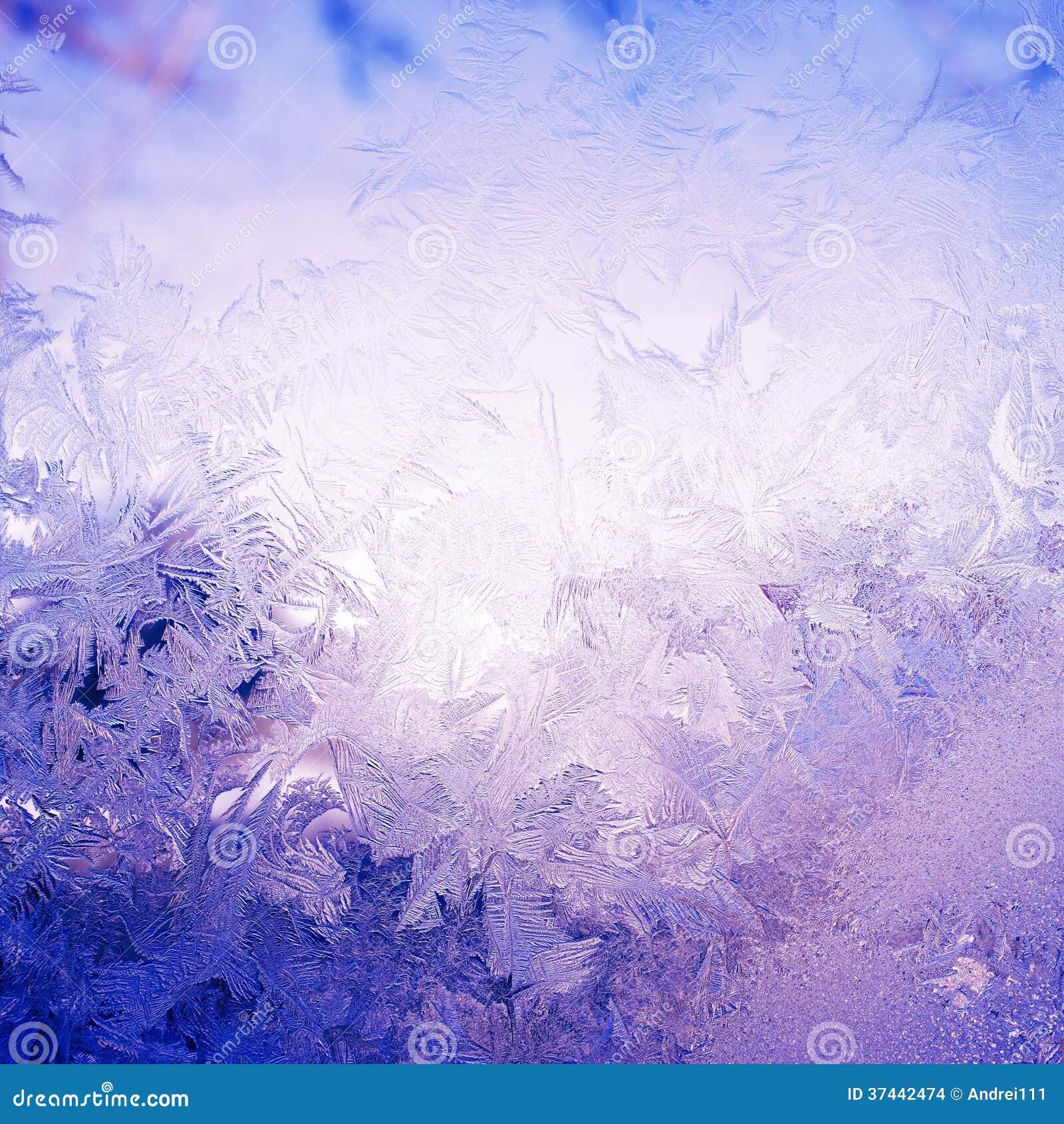Teste padrão da neve na janela