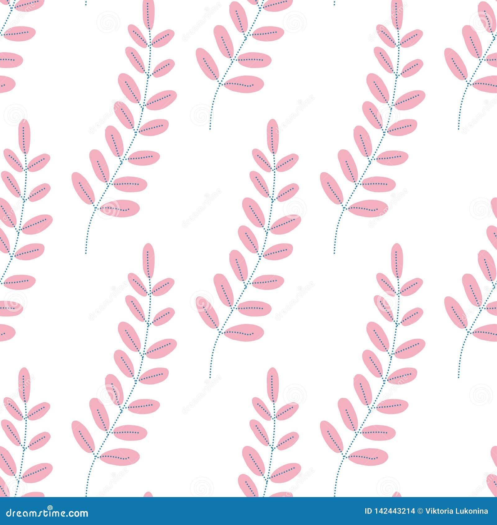 Teste padrão das folhas Fundo infinito Sem emenda no estilo liso
