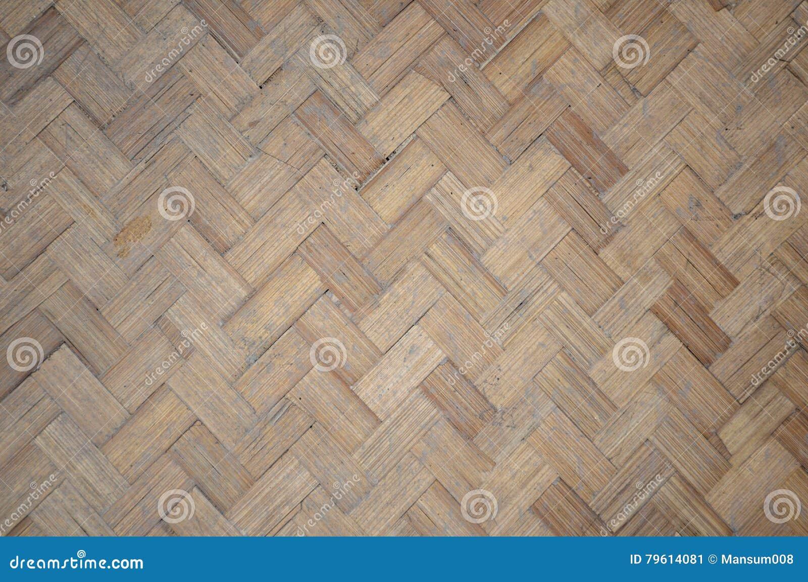 Teste padrão de bambu tecido