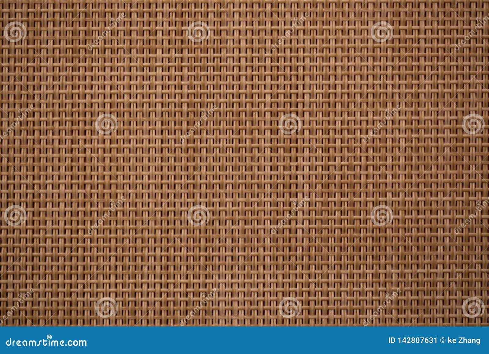 Teste padrão de bambu tecido Brown da cruz