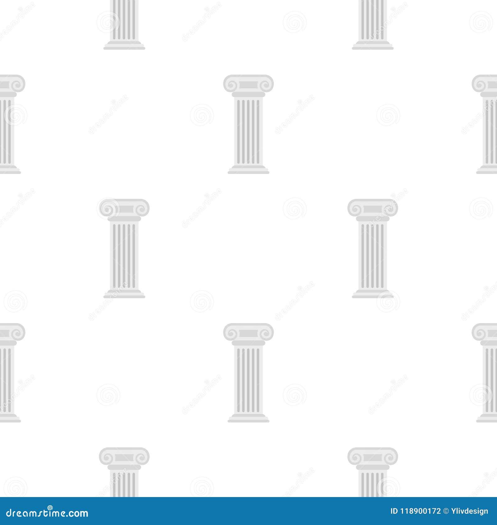 Teste padrão de coluna romano liso
