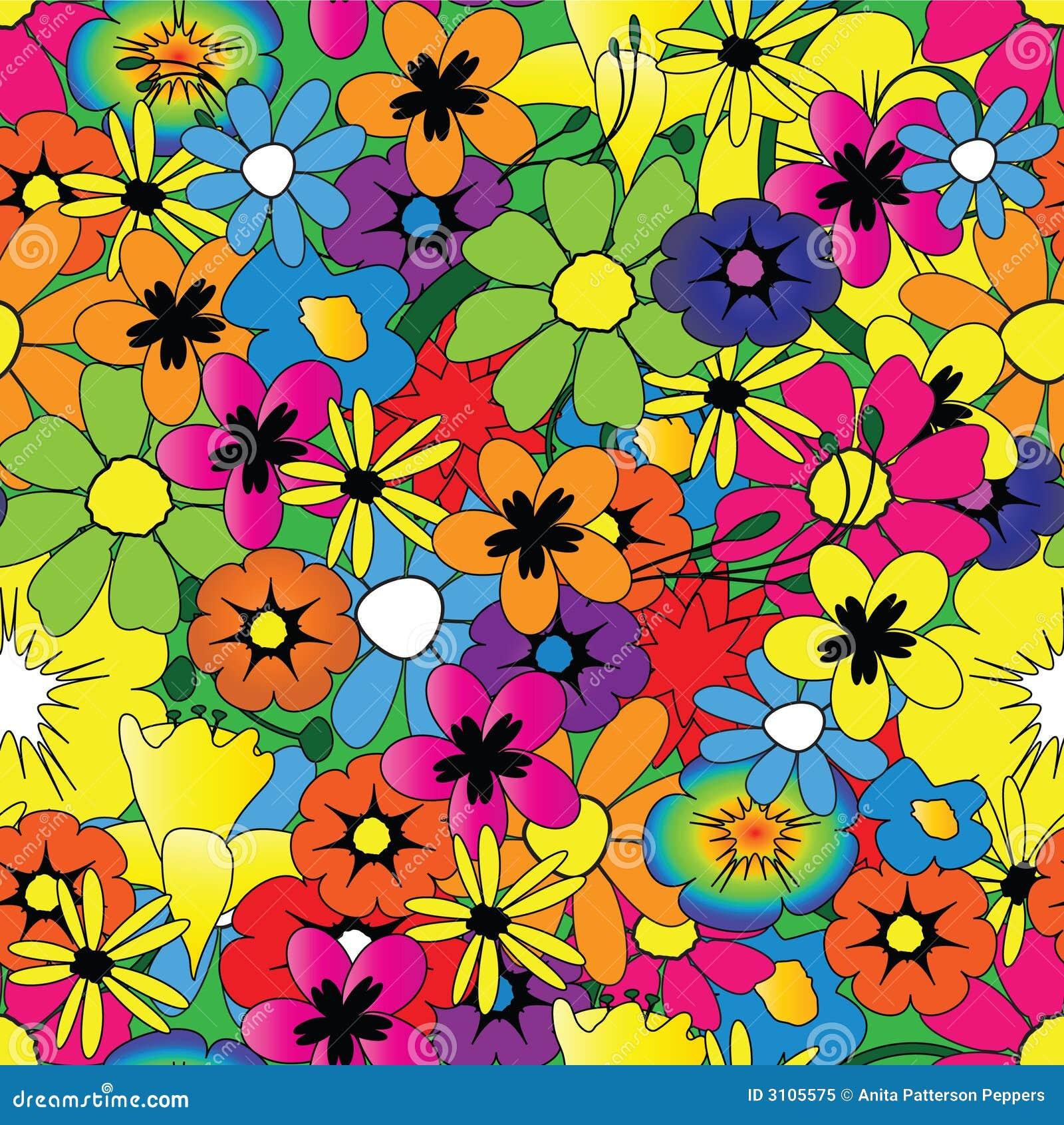 Teste padrão de flor brilhante