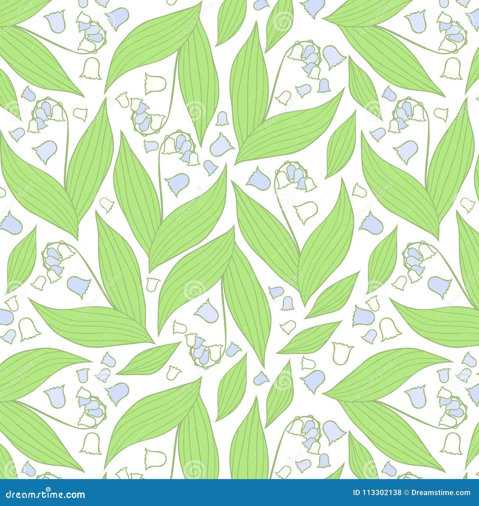 Teste padrão de flores da mola Teste padrão azul e branco