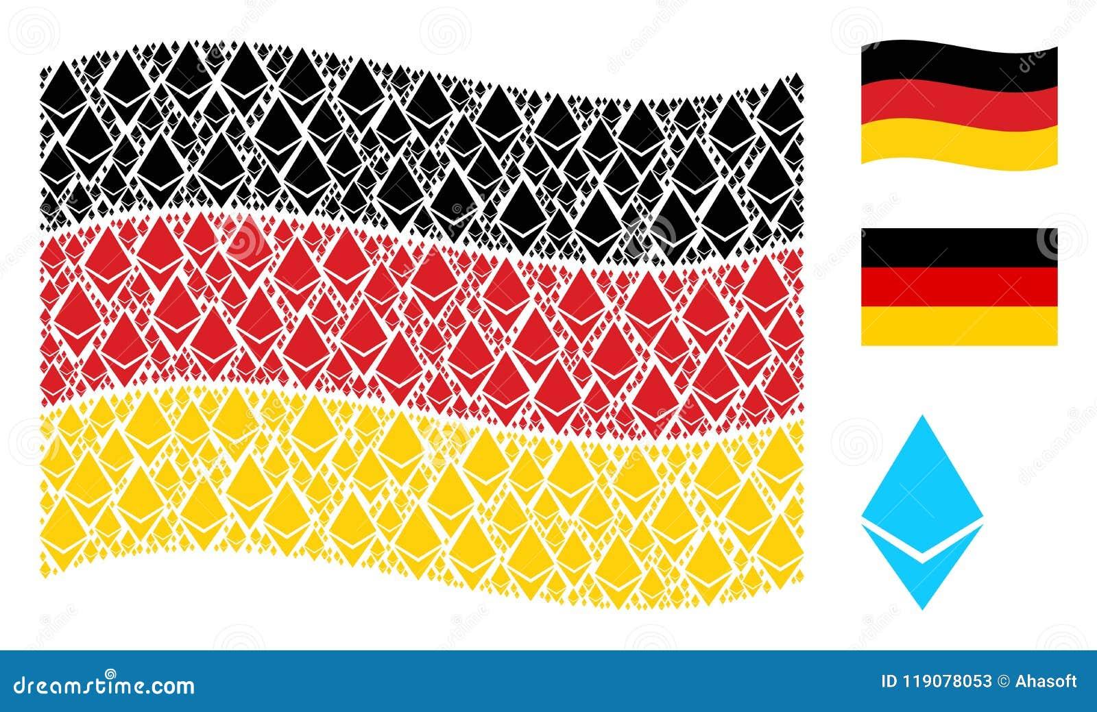 Teste padrão de ondulação da bandeira de Alemanha de Ethereum Crystal Items