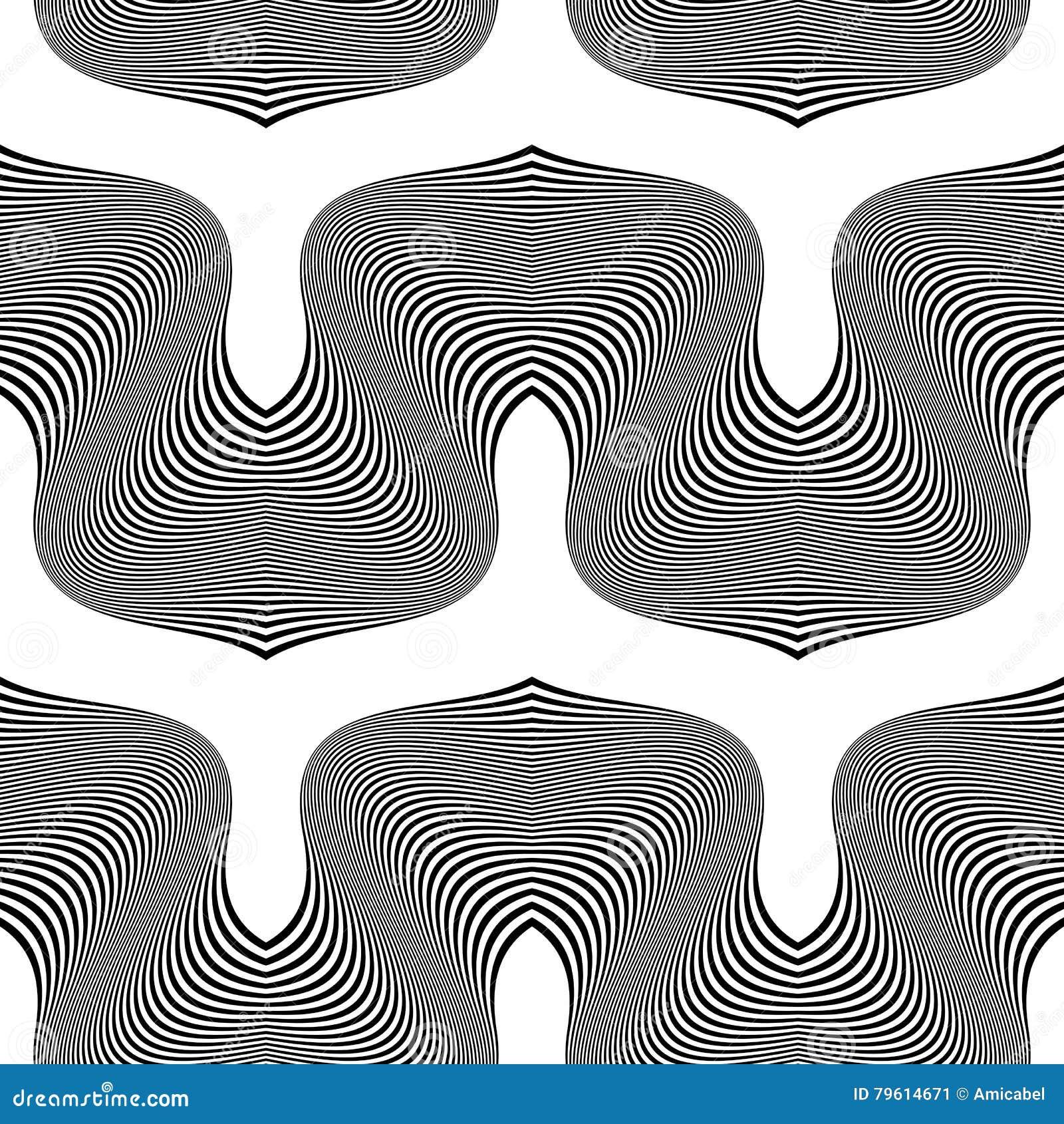 Teste padrão de ondulação monocromático sem emenda do projeto