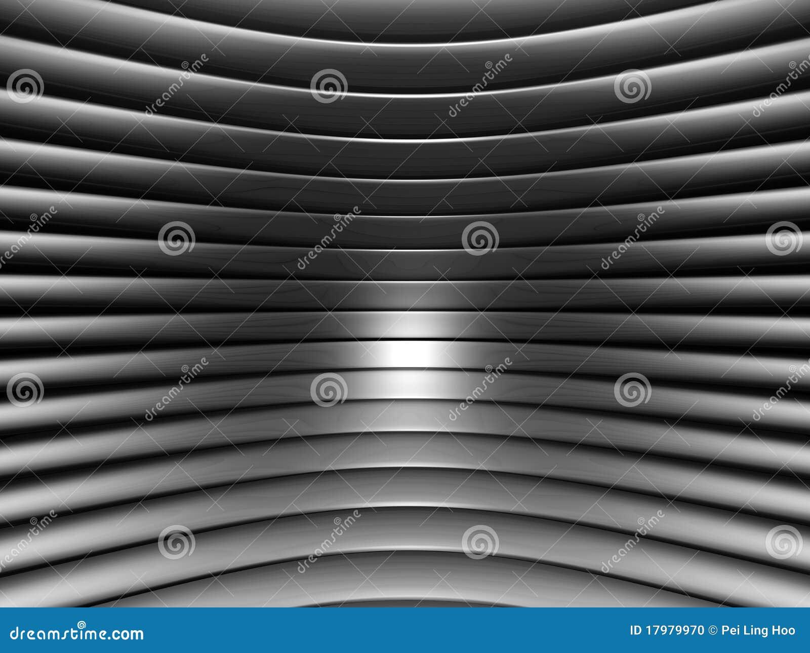 Teste padrão de prata abstrato de alumínio da listra da curva