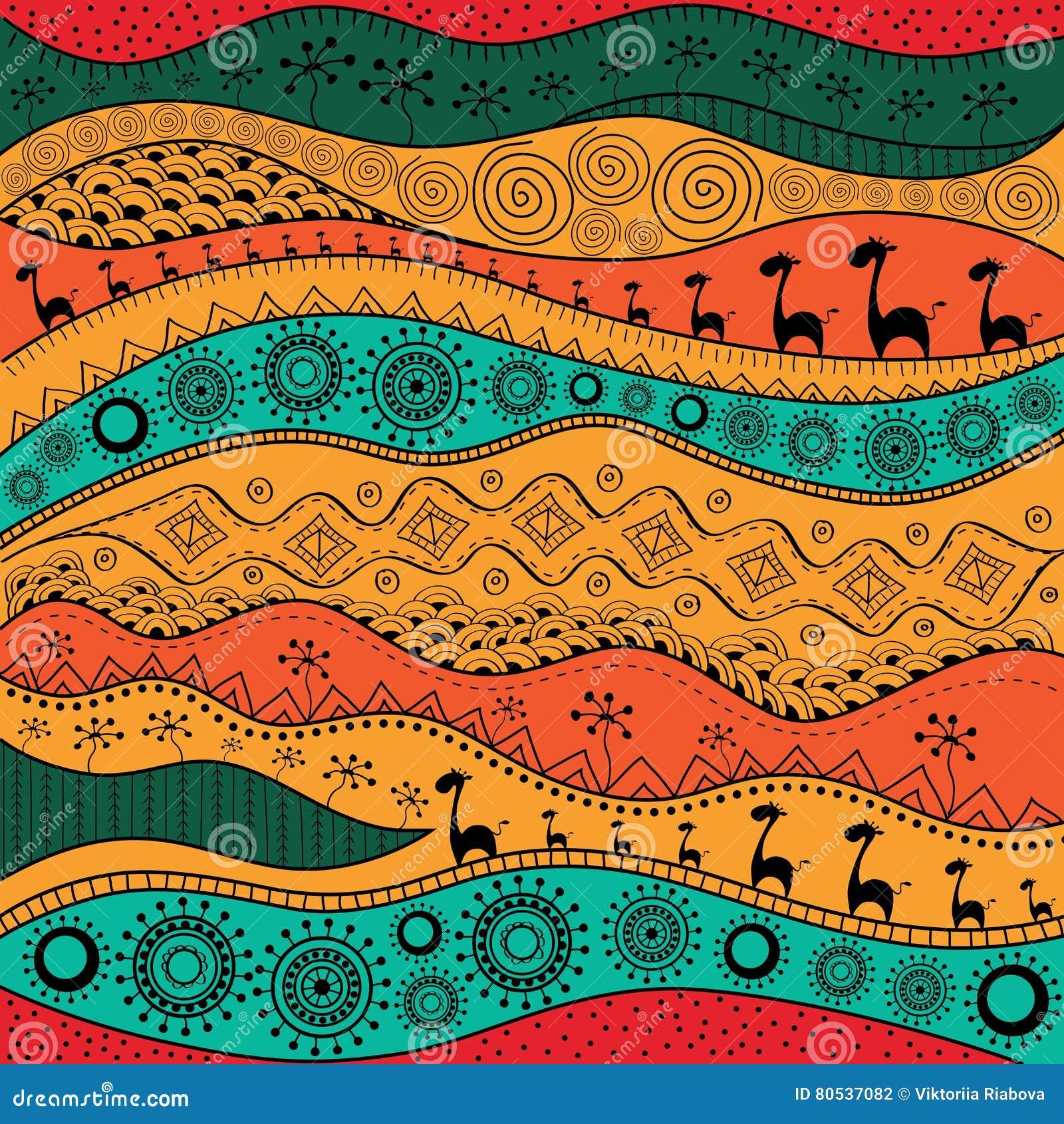 Teste padro desenhado mo africano do