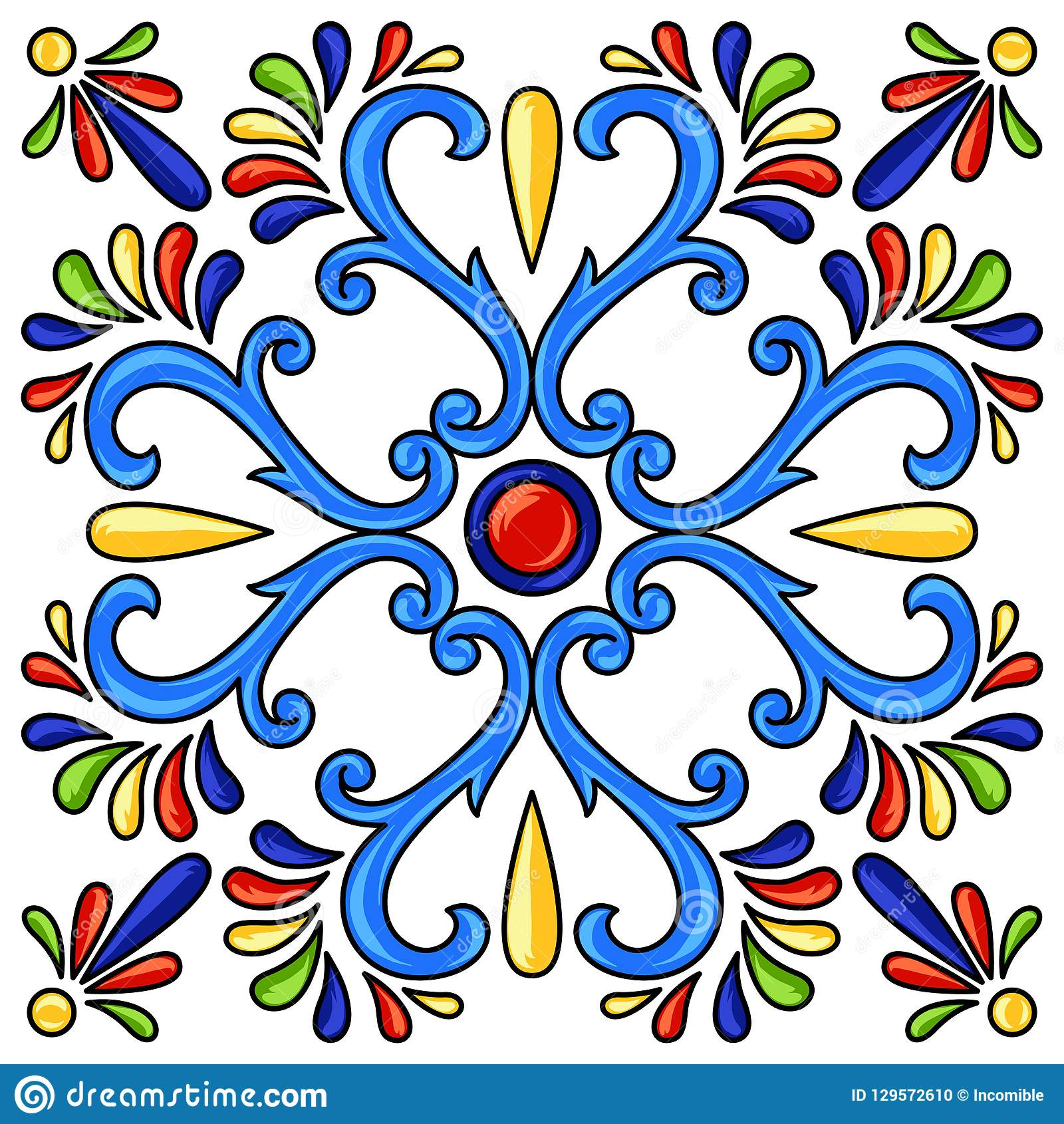 Teste padrão do azulejo de talavera do mexicano