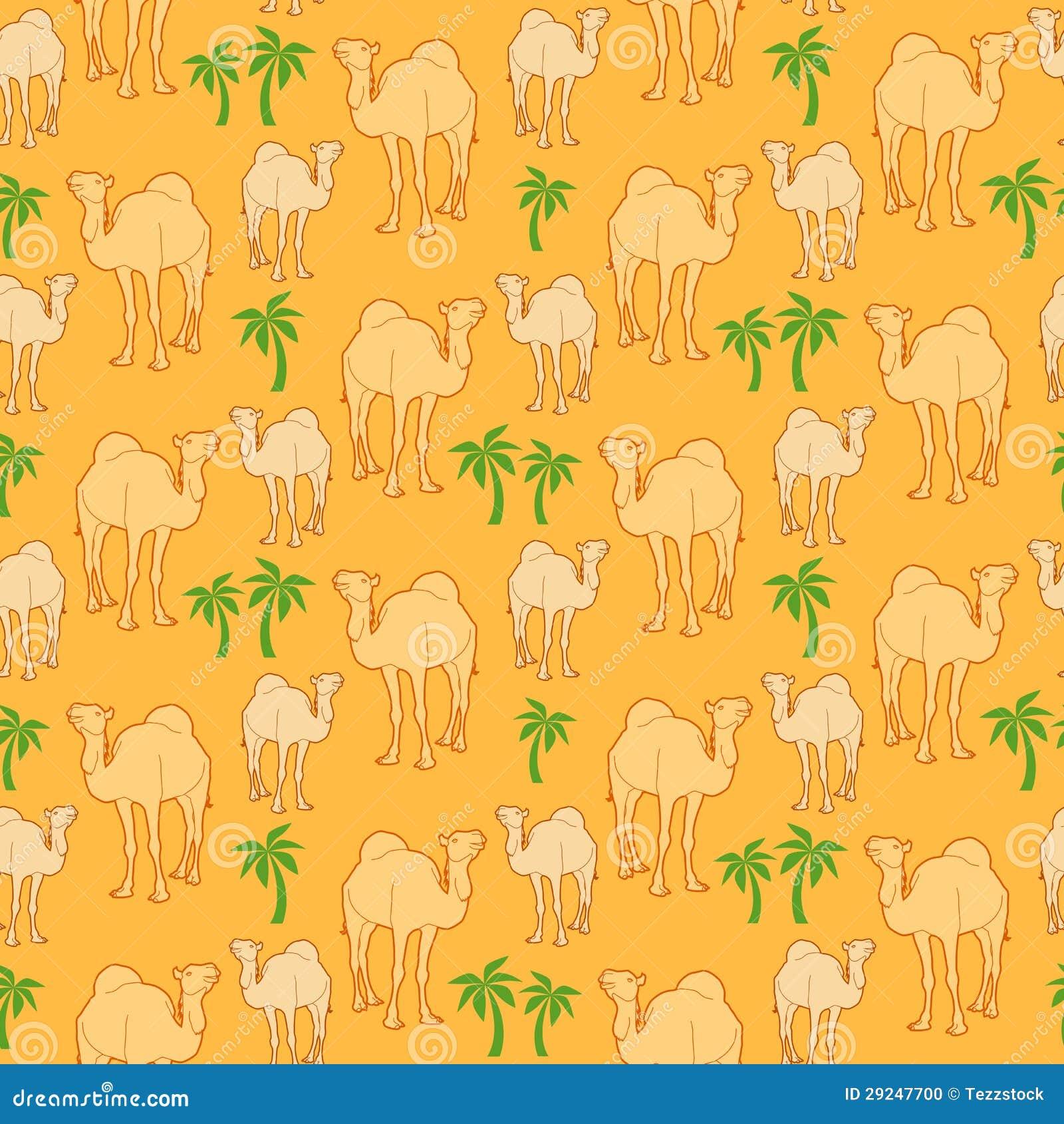 Download Teste padrão do camelo ilustração do vetor. Ilustração de wallpaper - 29247700