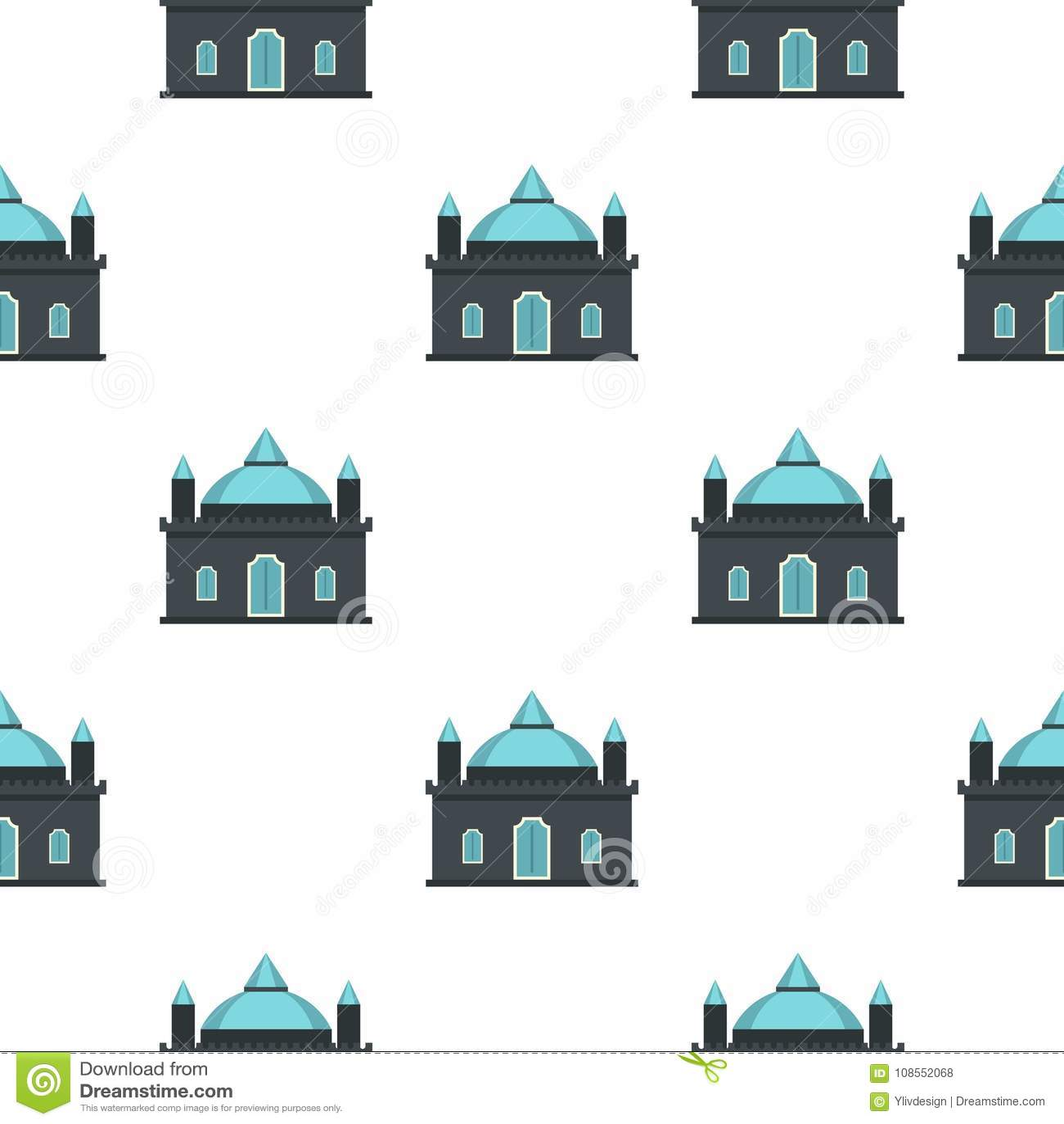 Teste padrão do palácio do reino sem emenda