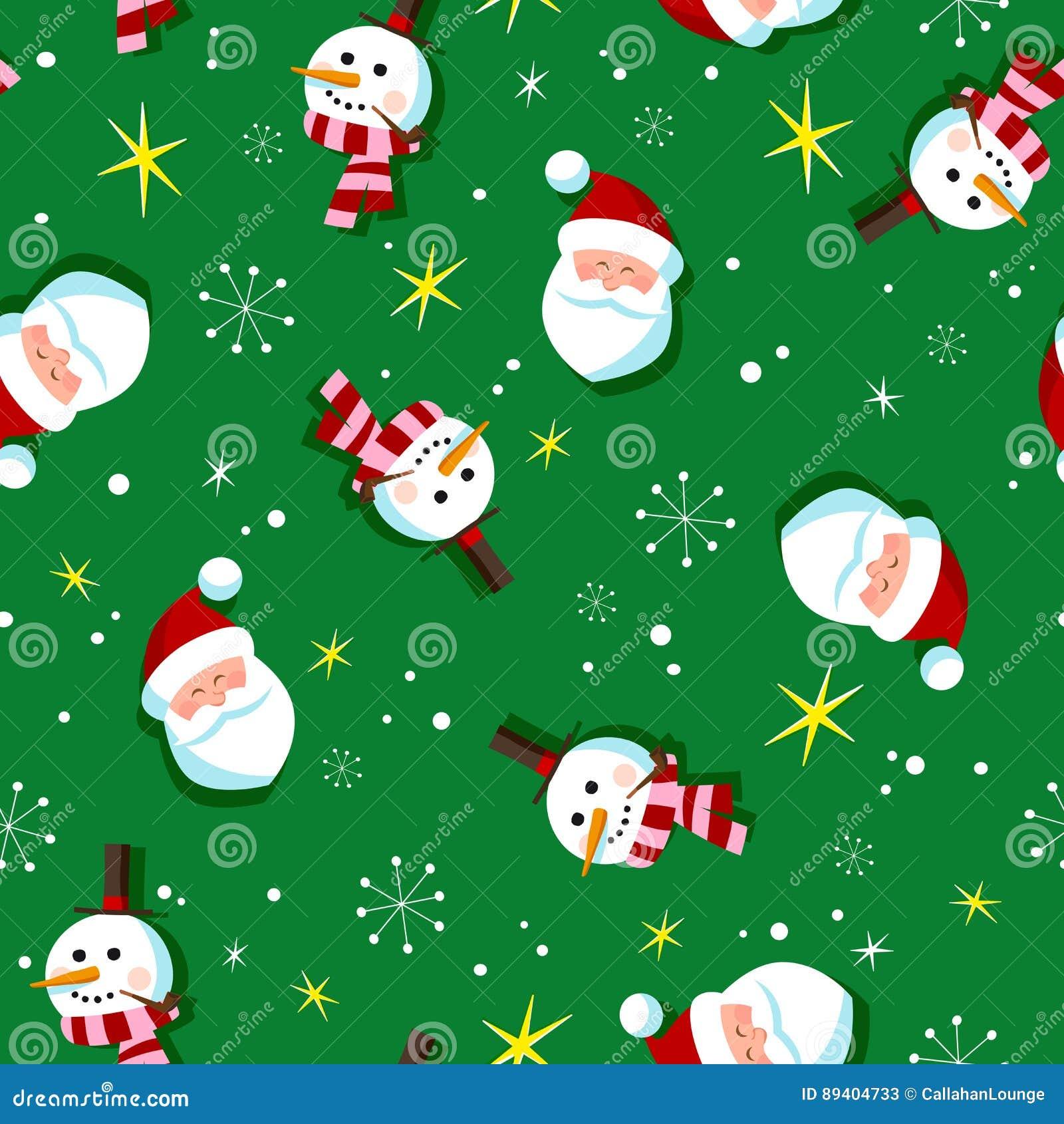 Teste padrão do papel de envolvimento do Natal do estilo do vintage