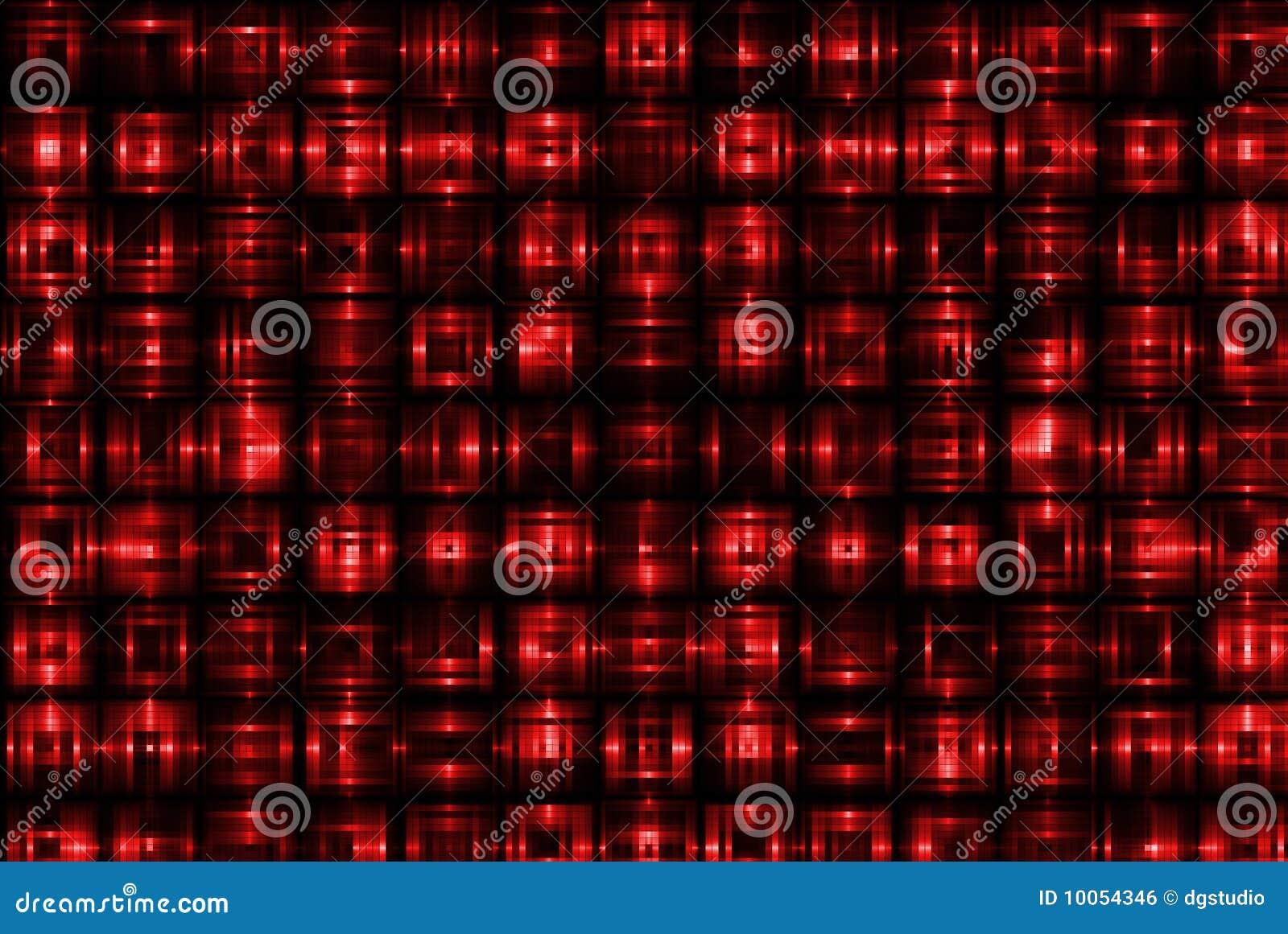 Teste padrão do quadrado vermelho