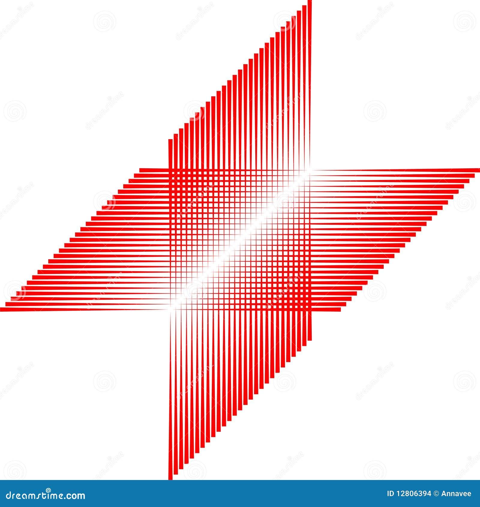 Teste padrão do quadrado vermelho, telha sem emenda, vetor