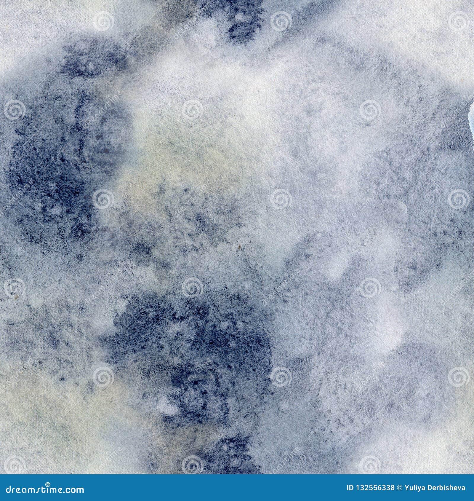 Teste padrão do sumário do inverno da aquarela Pontos azuis e amarelos pintados à mão Fundo para o projeto, cópia do feriado, tel