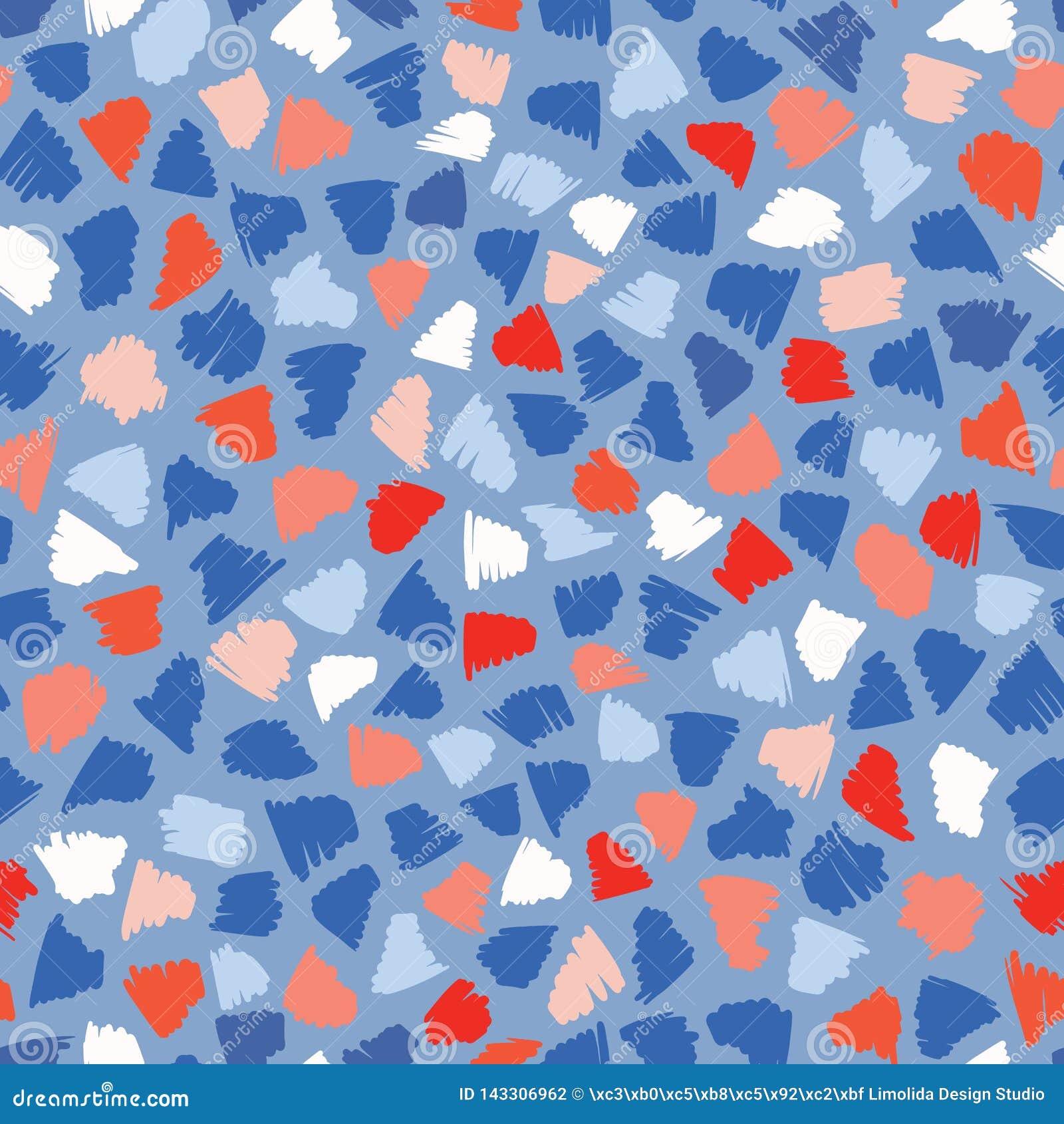 Teste padrão do vetor de Memphis Style Abstract Scribbles Seamless, garatuja tirada mão