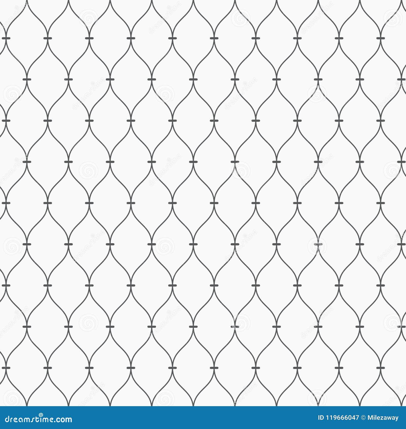 Teste padrão do vetor Textura pontilhada moderna Repetindo o fundo abstrato Grade linear ondulada simples Contexto minimalista gr