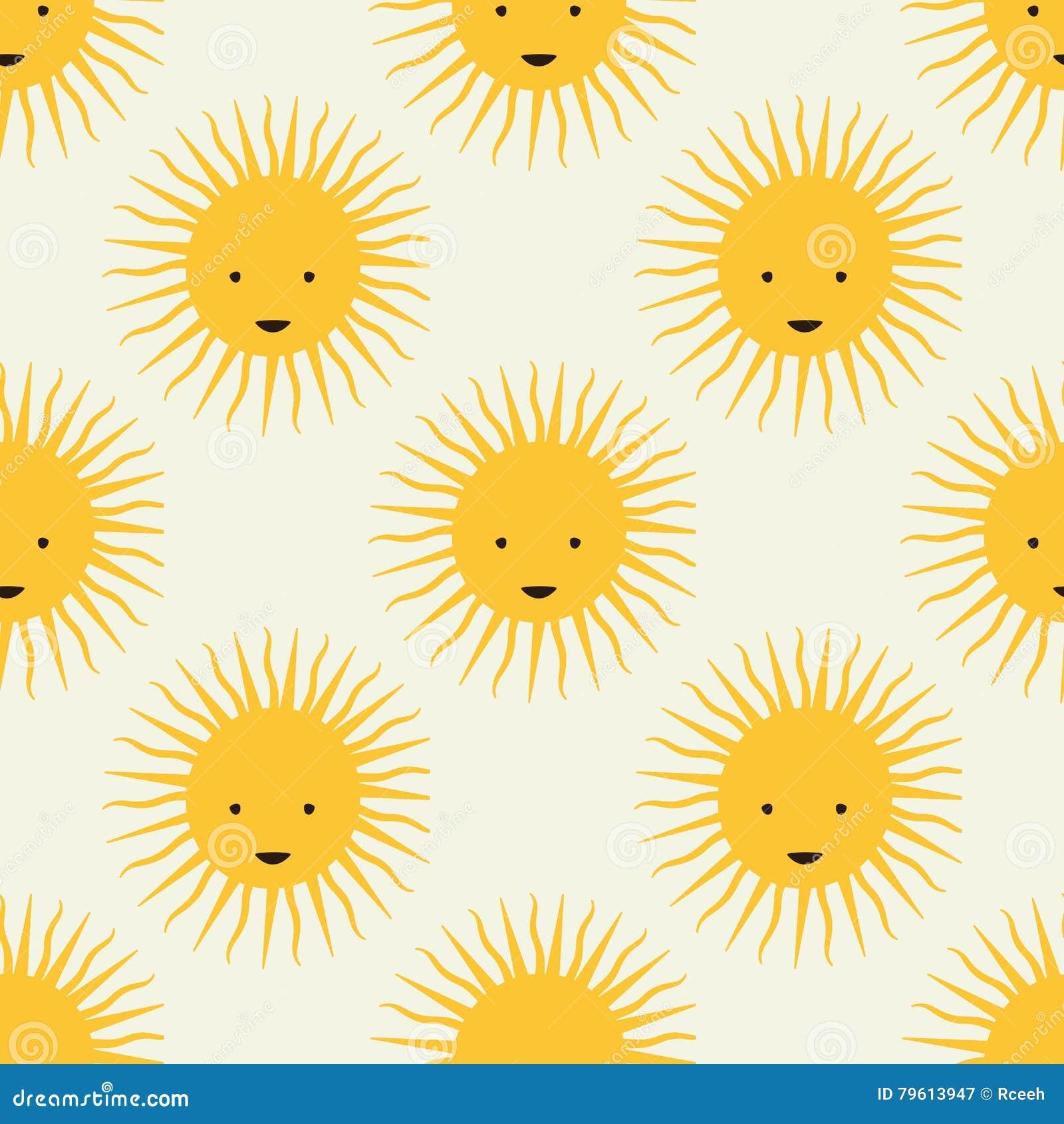 Teste padrão feliz do sol