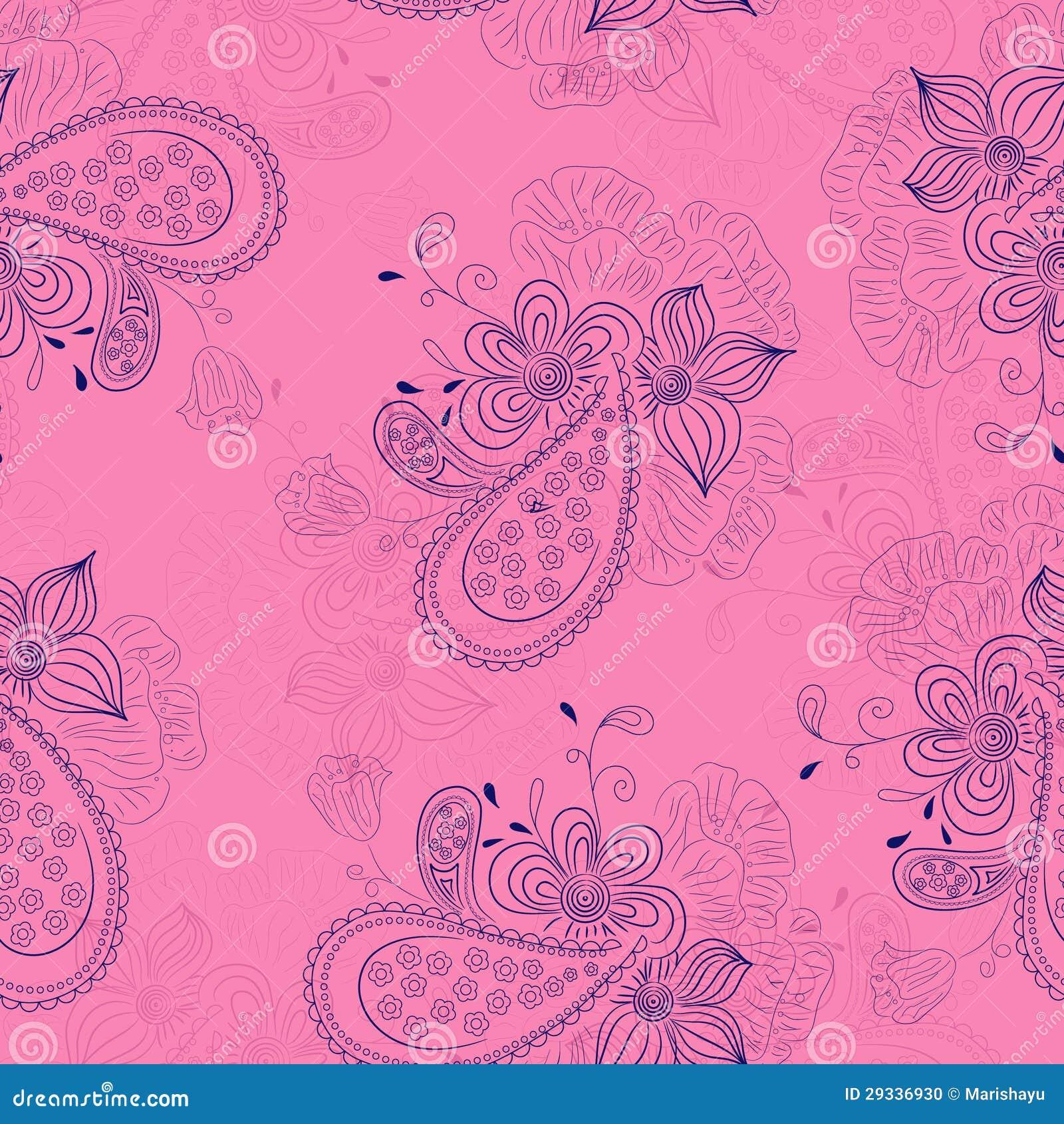 Teste padrão floral cor-de-rosa