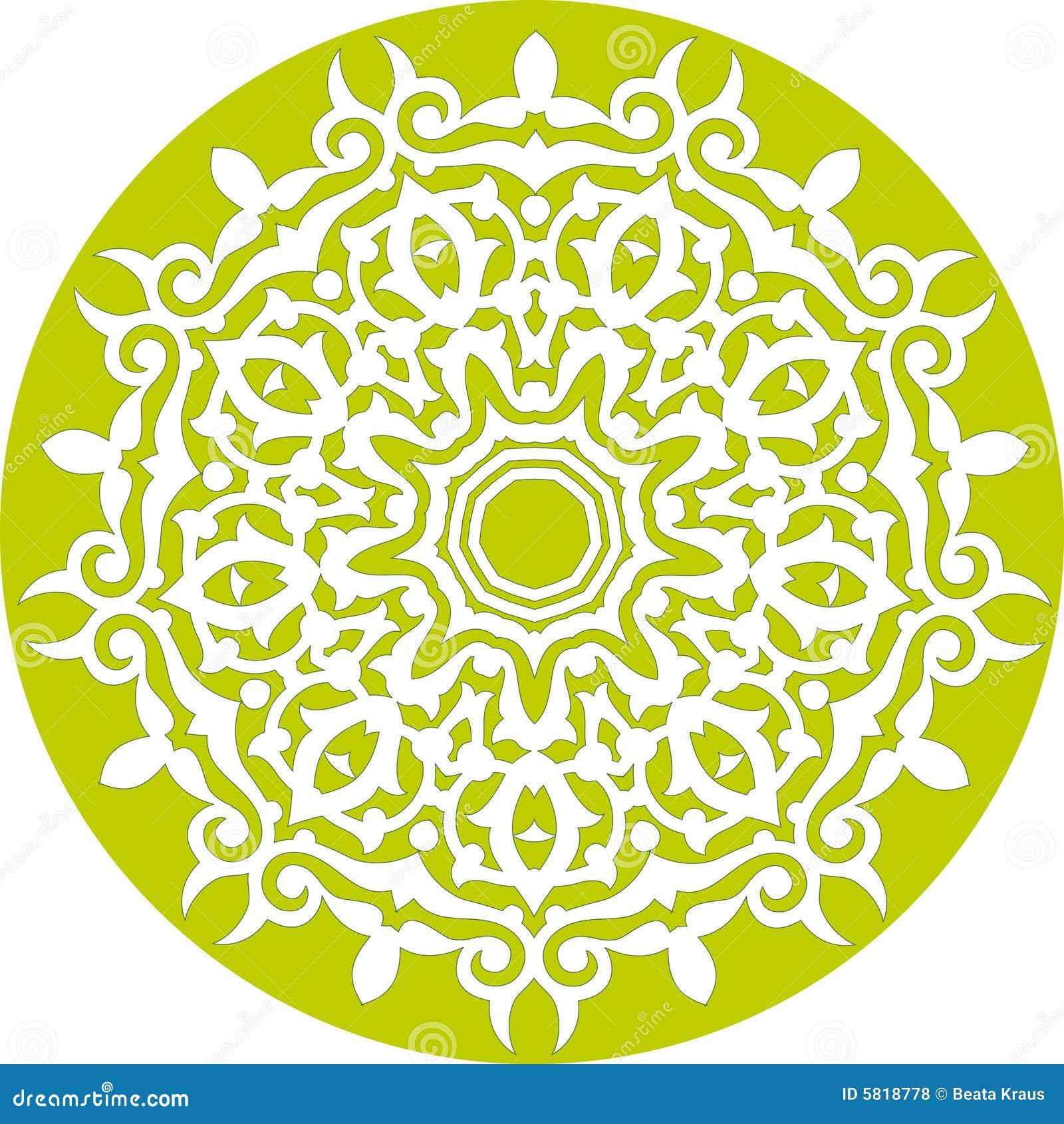 Teste padrão floral Kaleidoscopic
