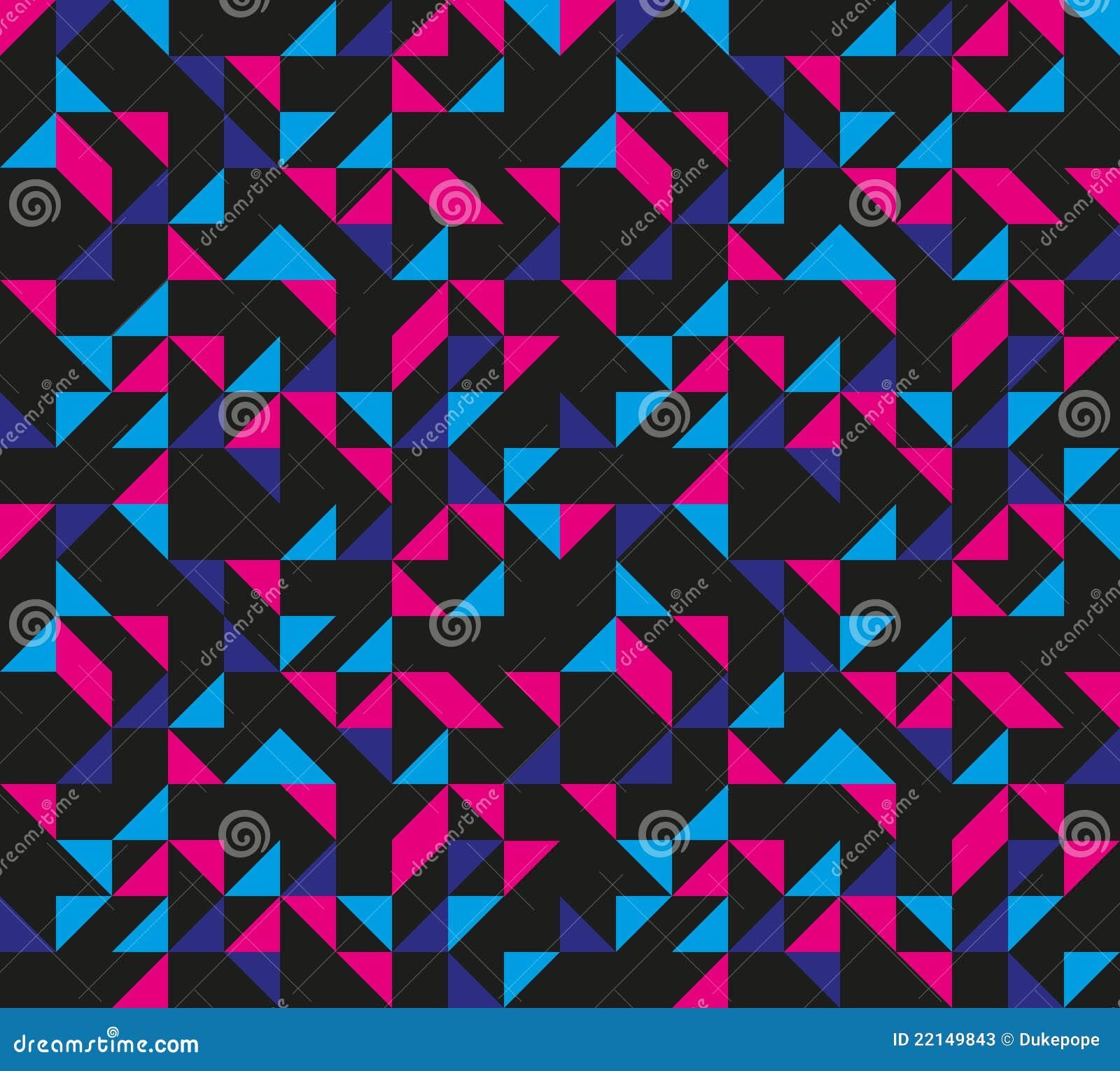 Teste padrão geométrico retro sem emenda
