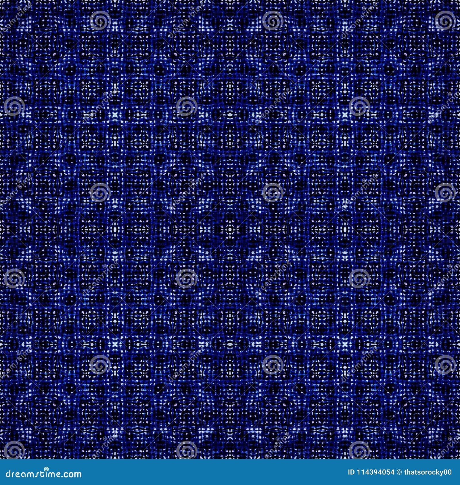 Teste padrão moderno da repetição da textura do batik da tintura do laço
