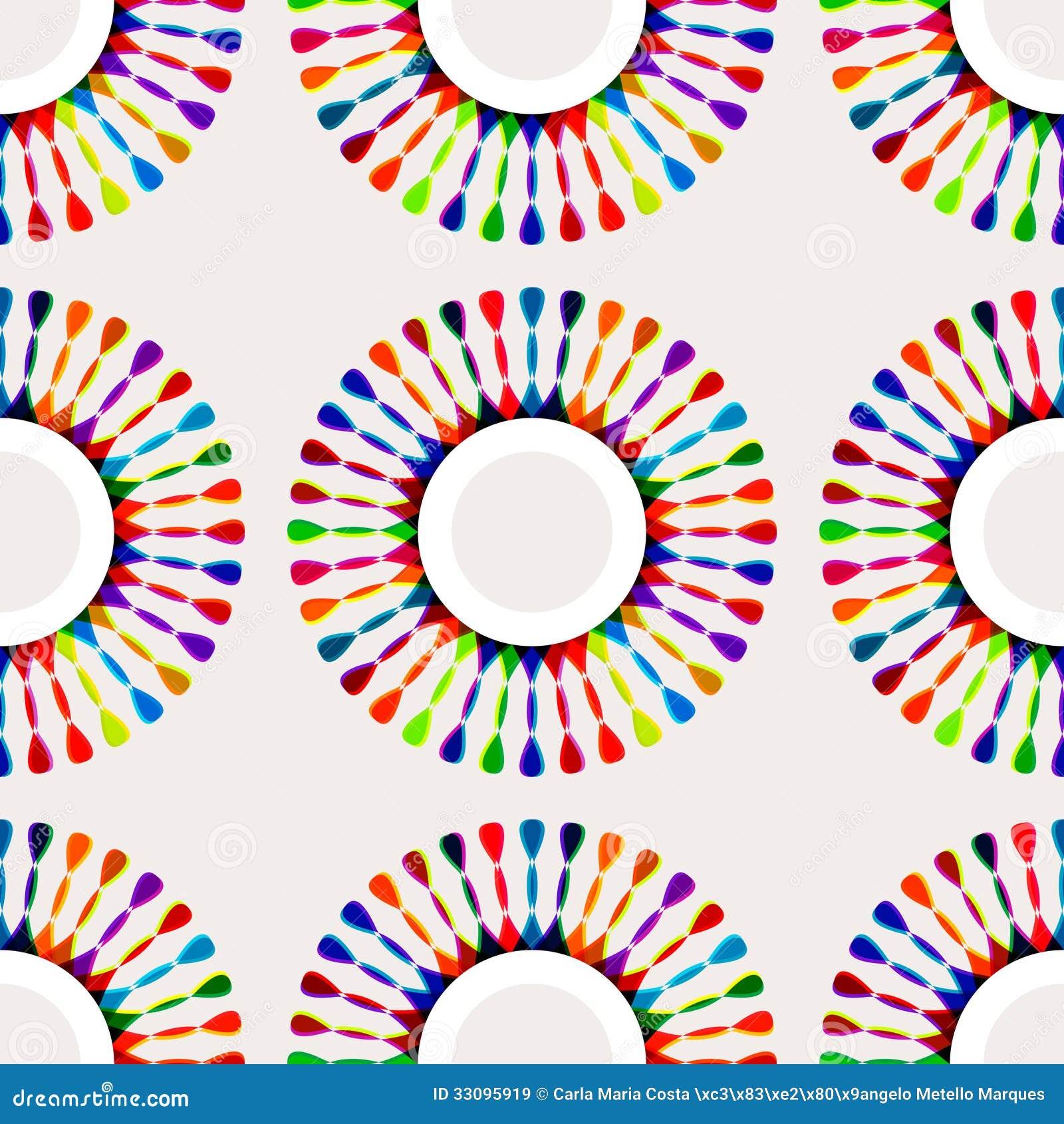 Teste padrão multicolorido