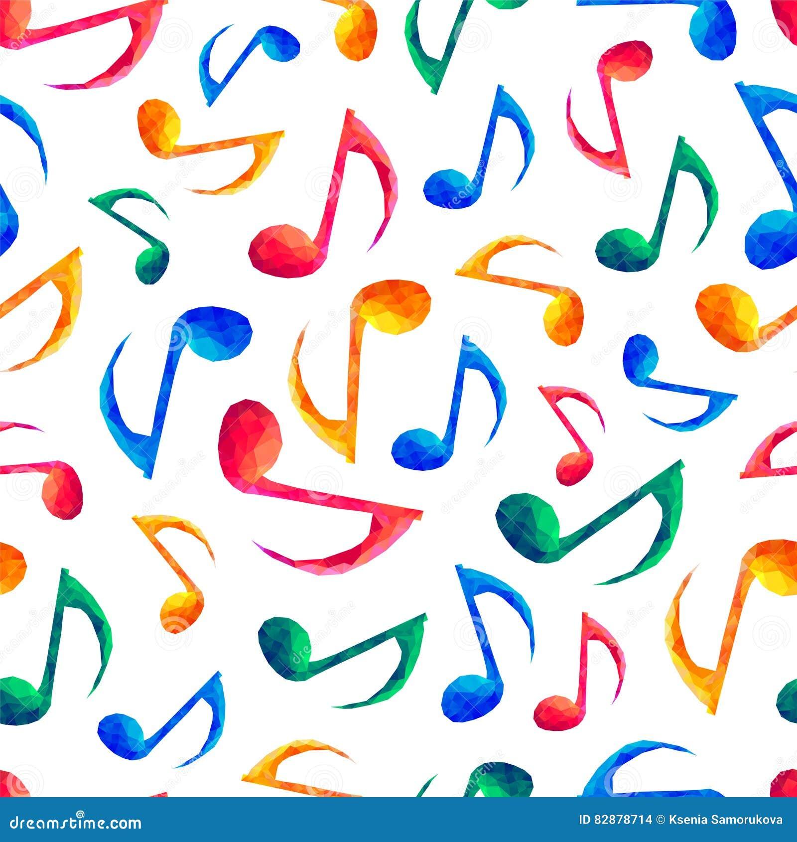 Teste padrão musical sem emenda - notas