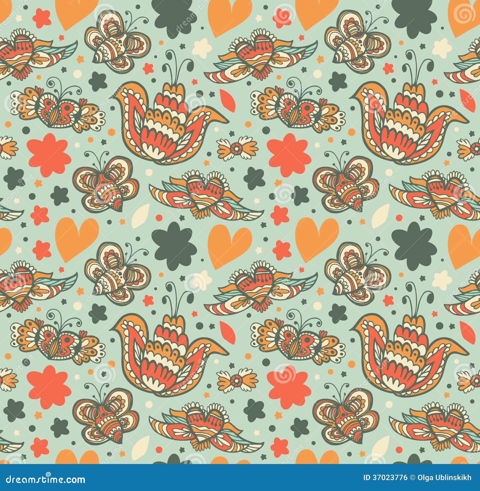 Teste padrão ornamentado floral com muitos detalhes bonitos Fundo bonito sem emenda com flores
