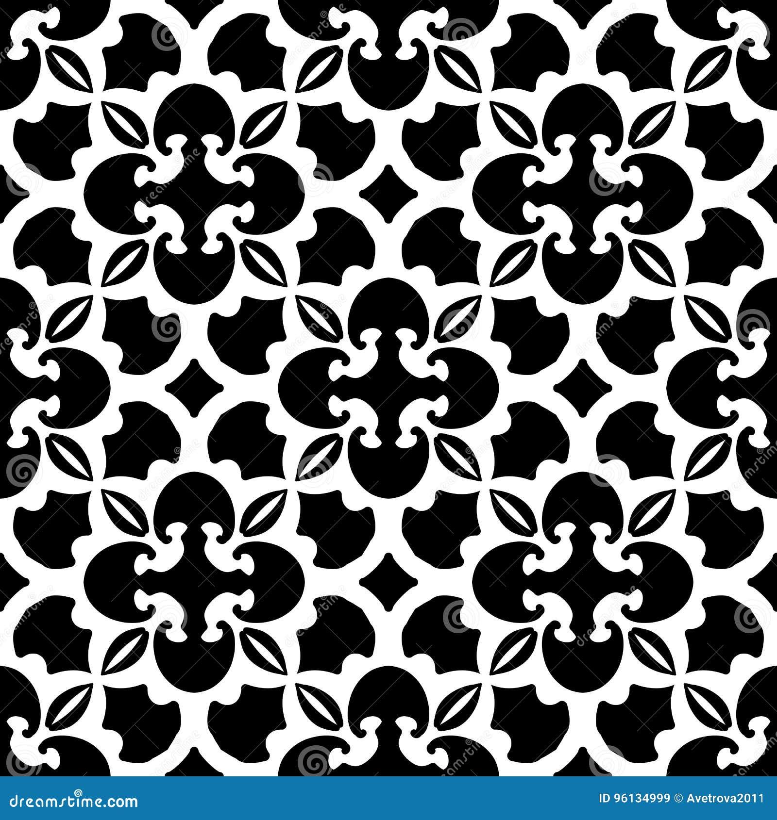 Teste padrão preto e branco abstrato