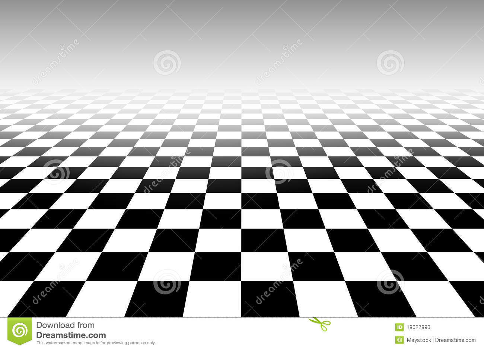 Teste Padrao Preto E Branco Do Tabuleiro De Xadrez De