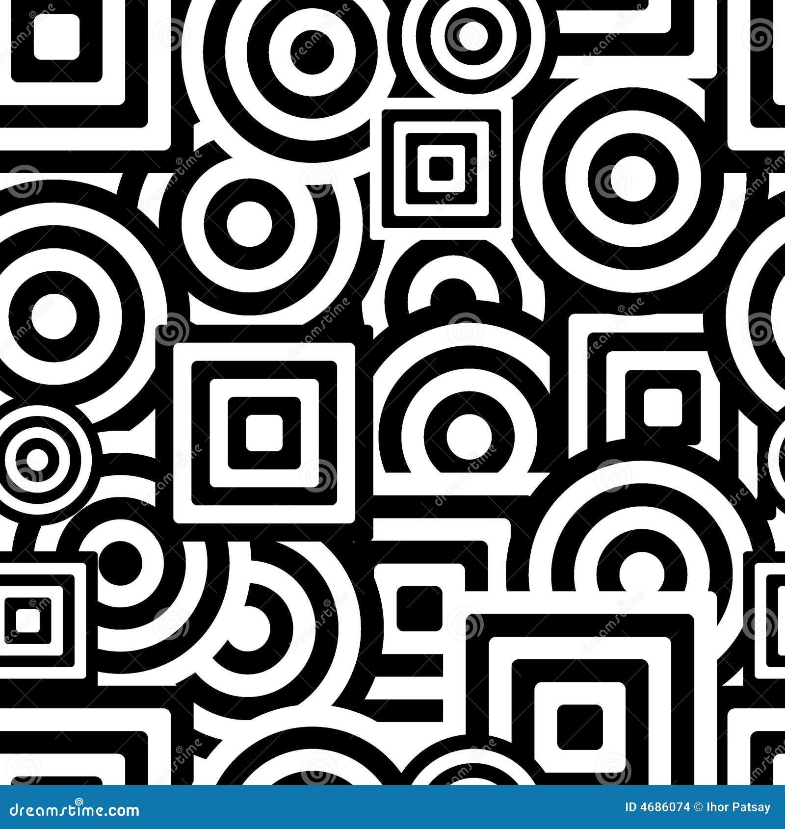 Teste padrão preto e branco sem emenda
