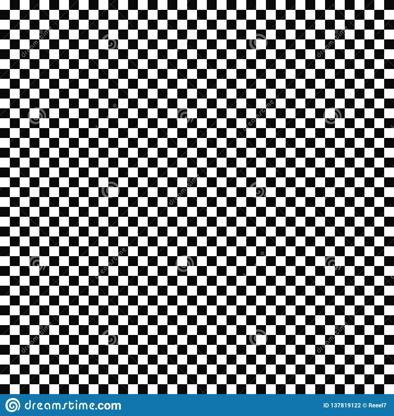 Teste padrão quadriculado sem emenda da bandeira do vetor Textura geométrica Fundo preto e branco Projeto monocromático