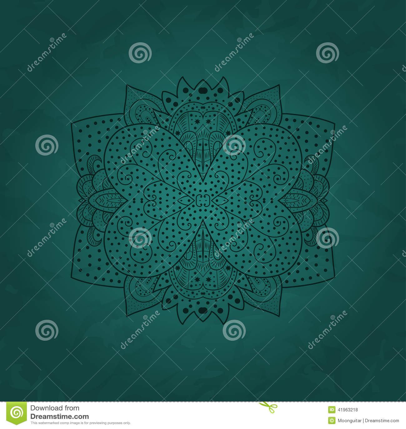 Teste padrão redondo decorativo do laço, fundo do círculo com muitos detalhes