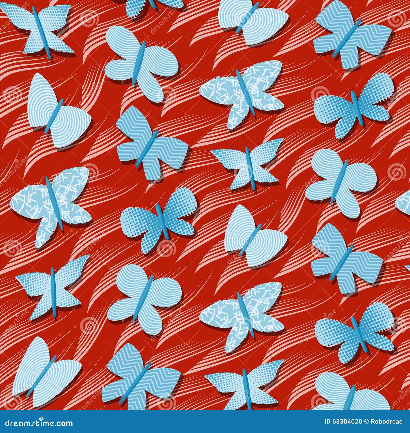 Teste padrão repetitivo sem emenda com borboletas