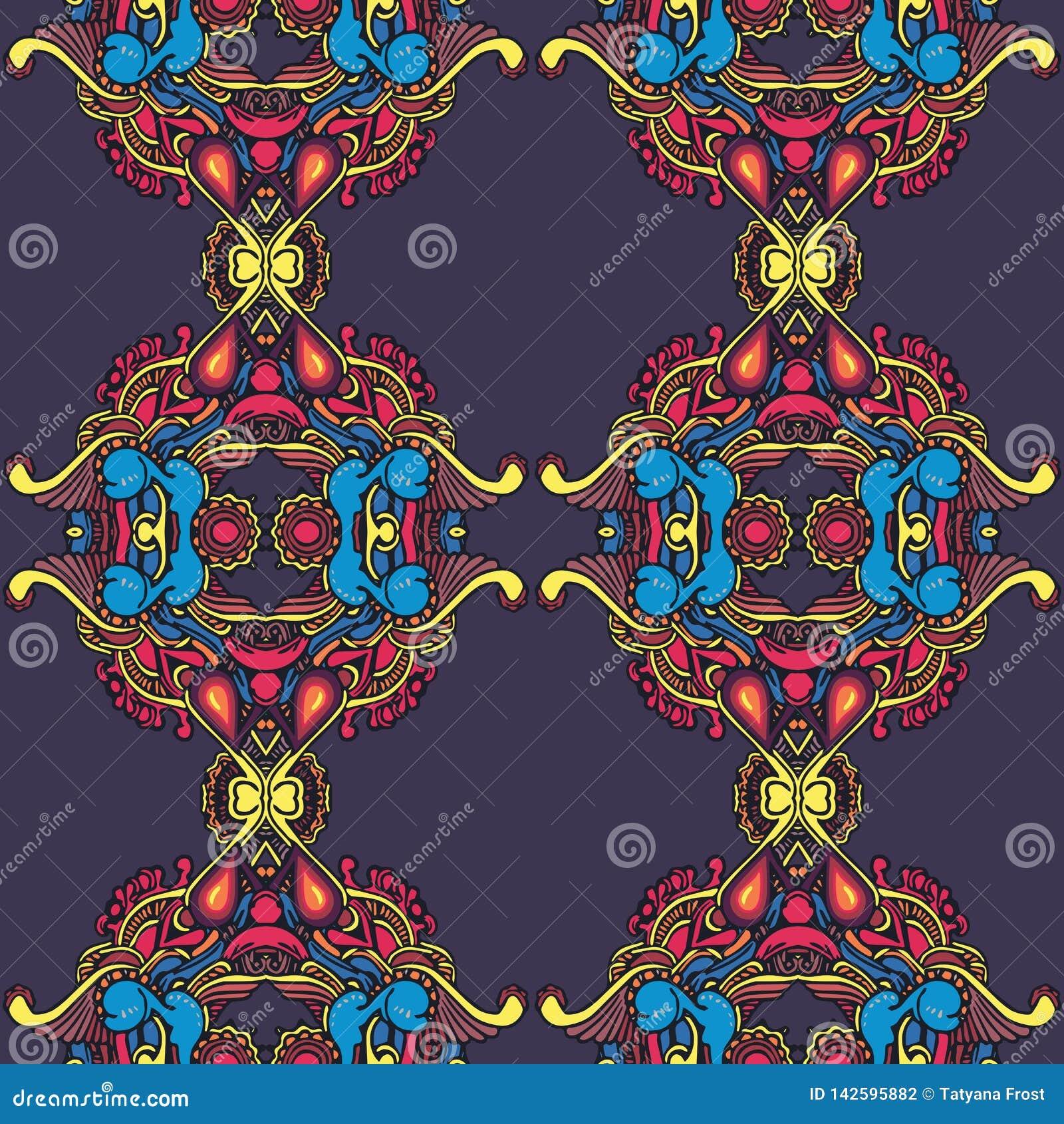 Teste padrão repited colorido na escada do vintage