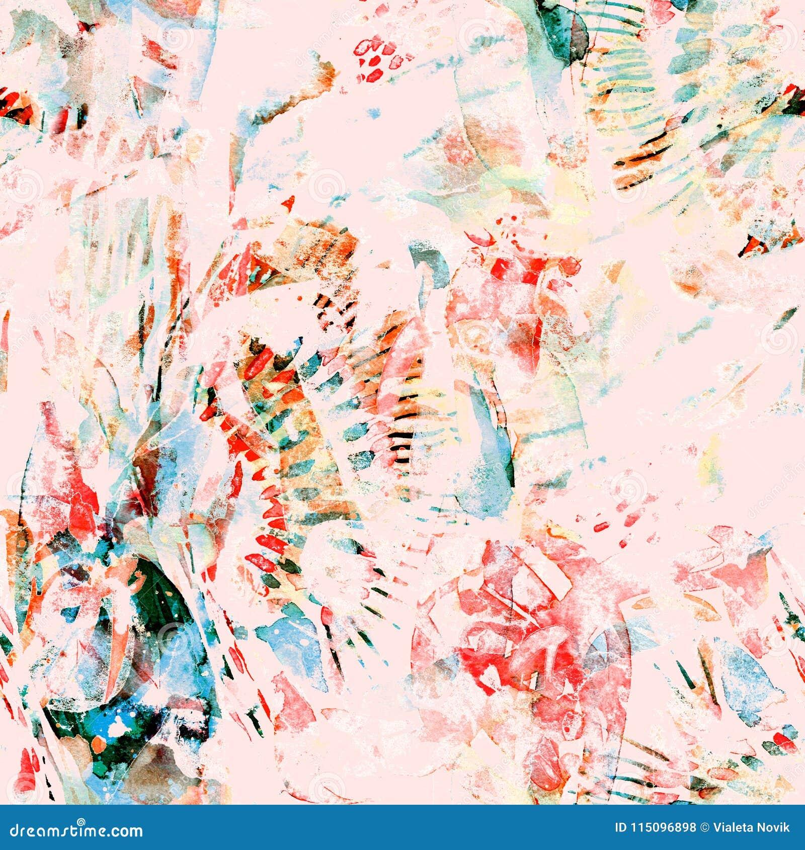 Teste padrão sem emenda étnico da aquarela