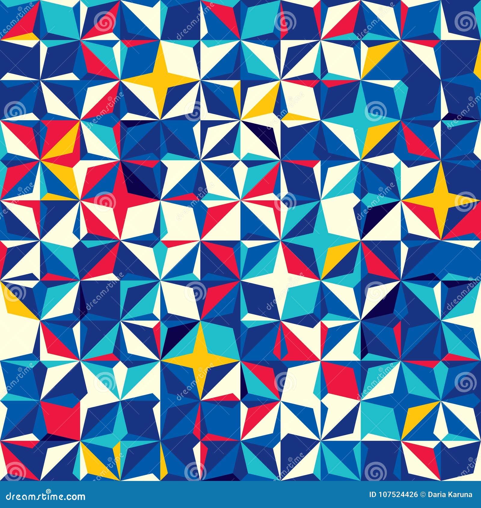 Teste padrão sem emenda abstrato dos quadrados e de formulários diagonais