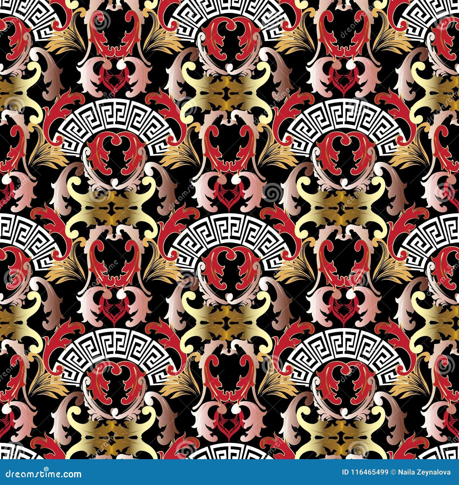 613393df4ddd3 Teste padrão sem emenda barroco do estilo do grego moderno Fundo abstrato  decorativo bonito do vetor Projeto do papel de parede As formas  geométricas