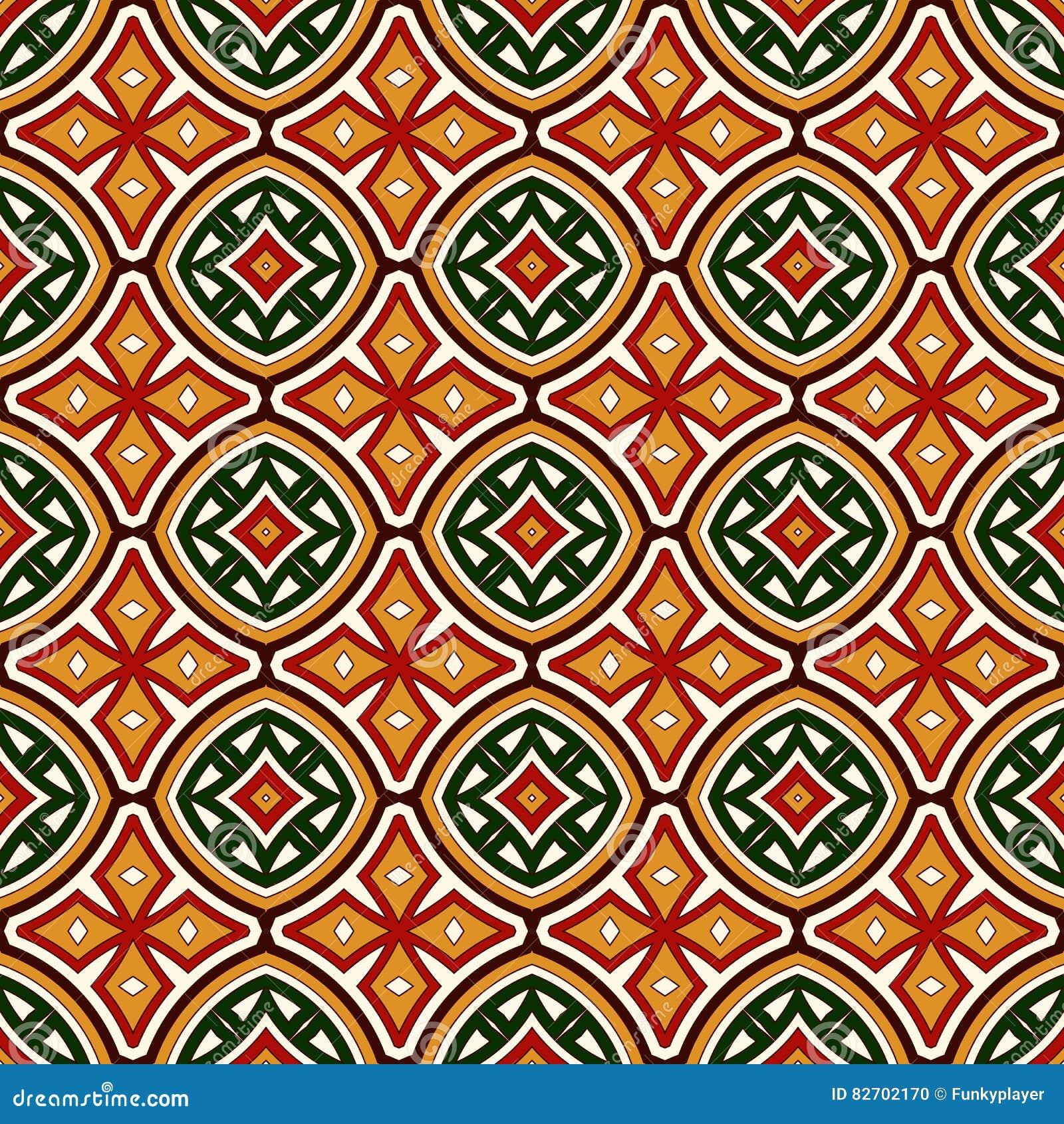 Teste padrão sem emenda brilhante com o ornamento geométrico em cores tradicionais do Natal Motivos étnicos e tribais