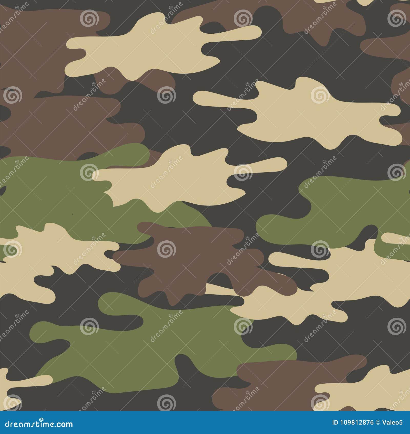Teste padrão sem emenda camuflar As forças armadas repetem a textura do exército Brown verde Olive Colors Forest Background