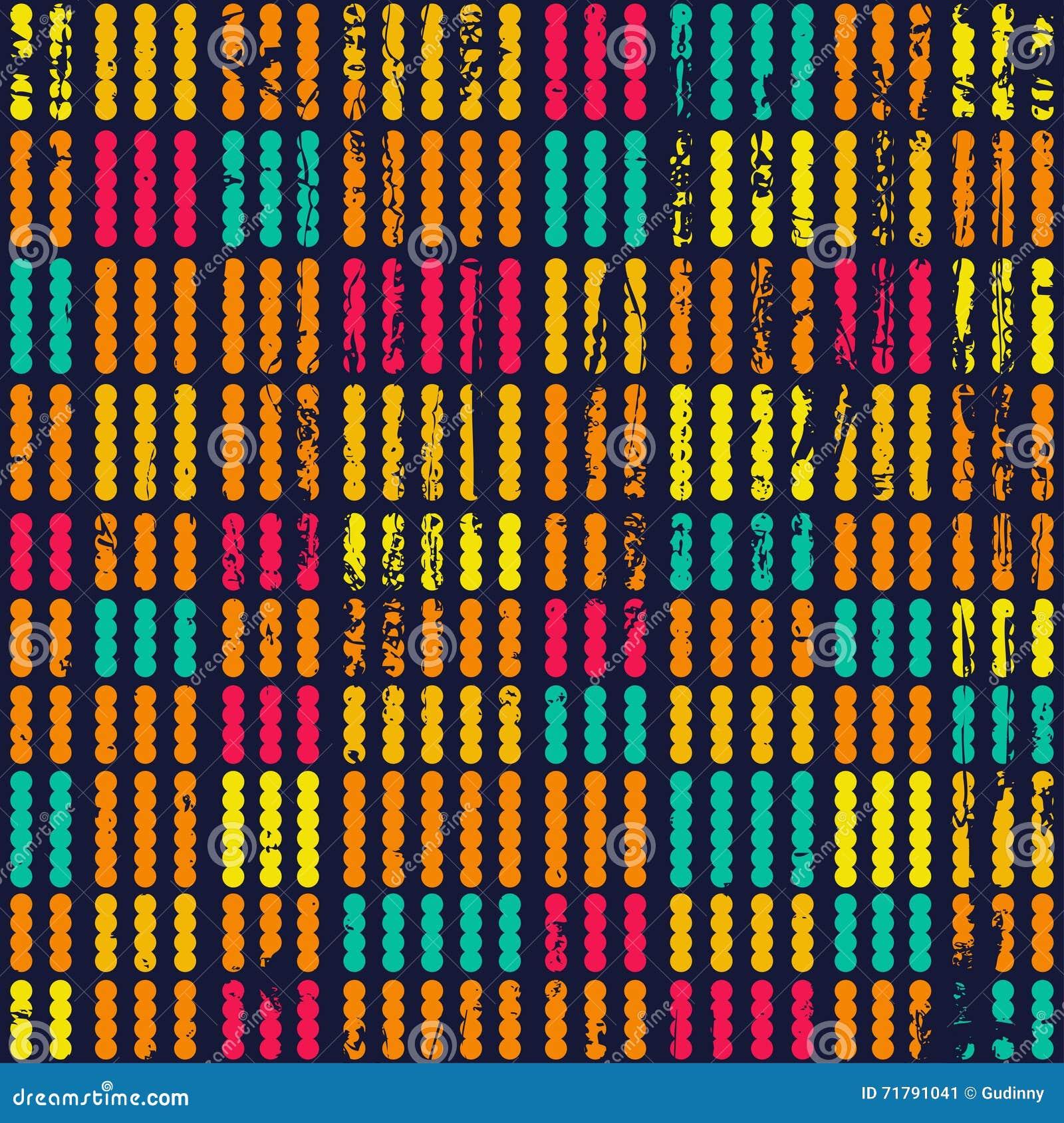 Teste padrão sem emenda colorido dos pontos com textura do grunge