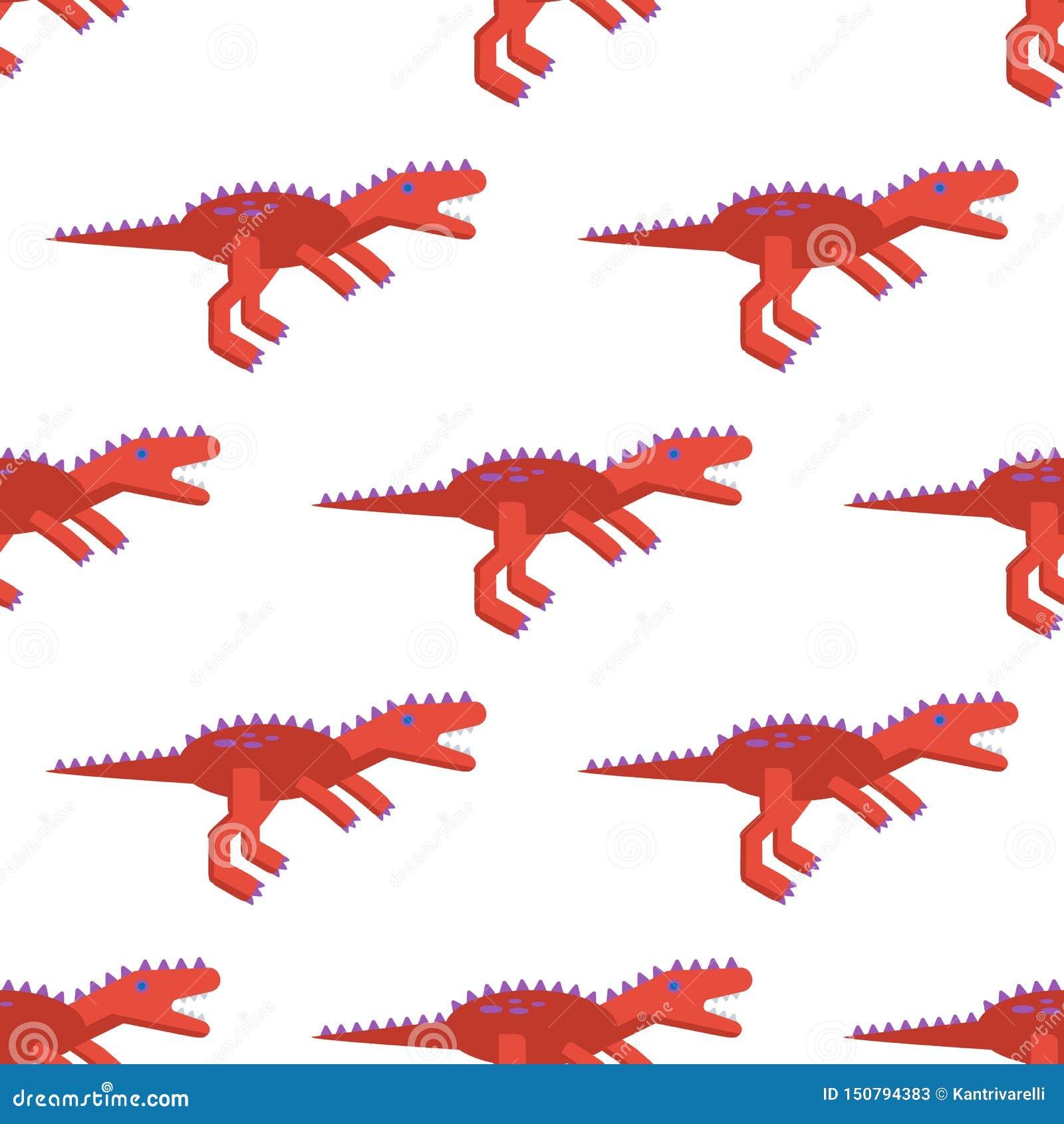 Teste padrão sem emenda com ícone do tiranossauro Fundo com o dinossauro para o projeto diferente