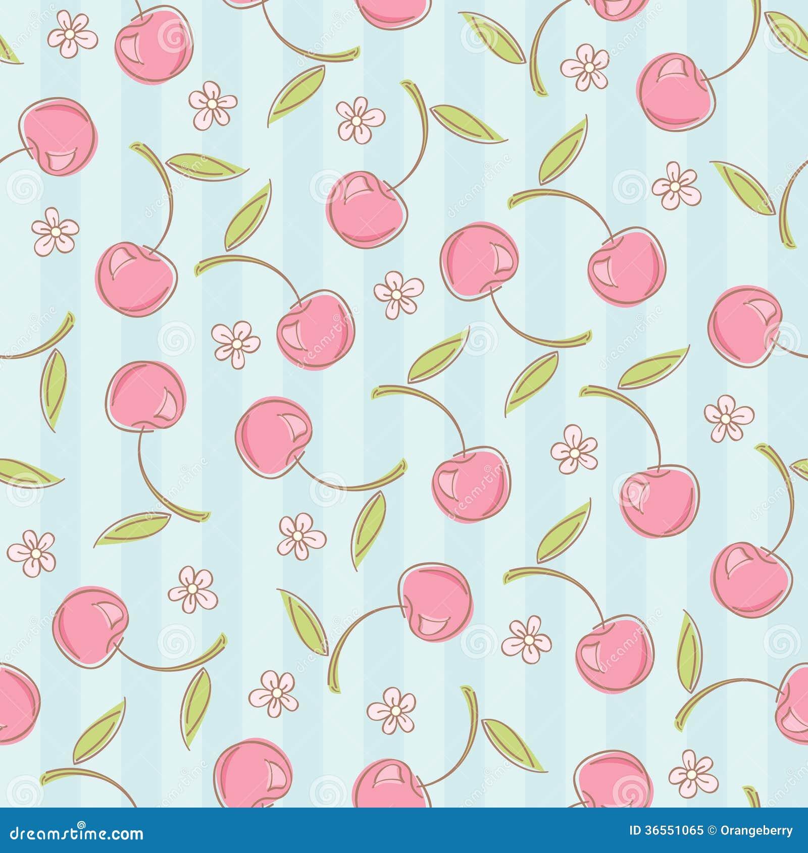 Teste padrão sem emenda com cerejas