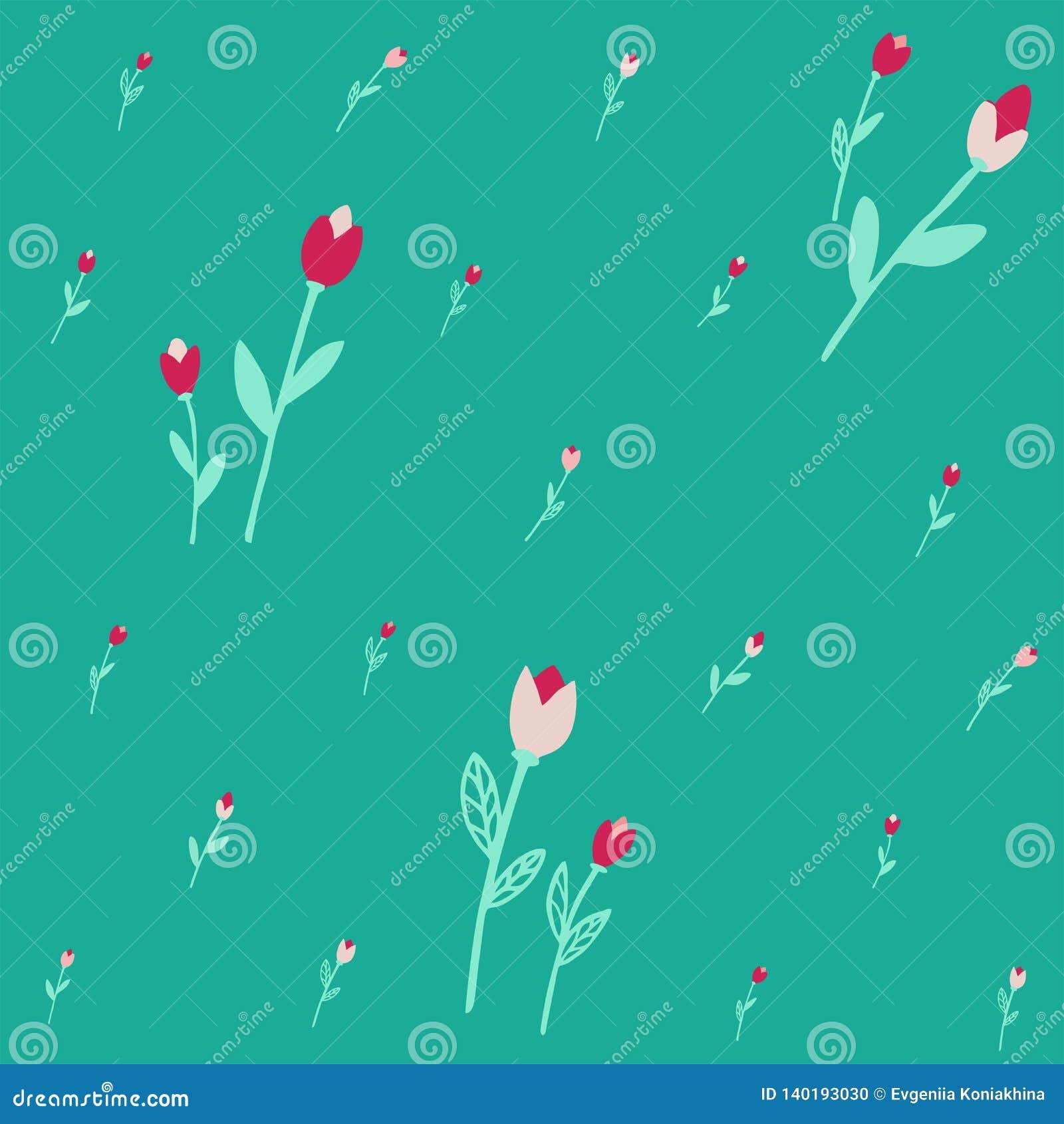 Teste padrão sem emenda com flores