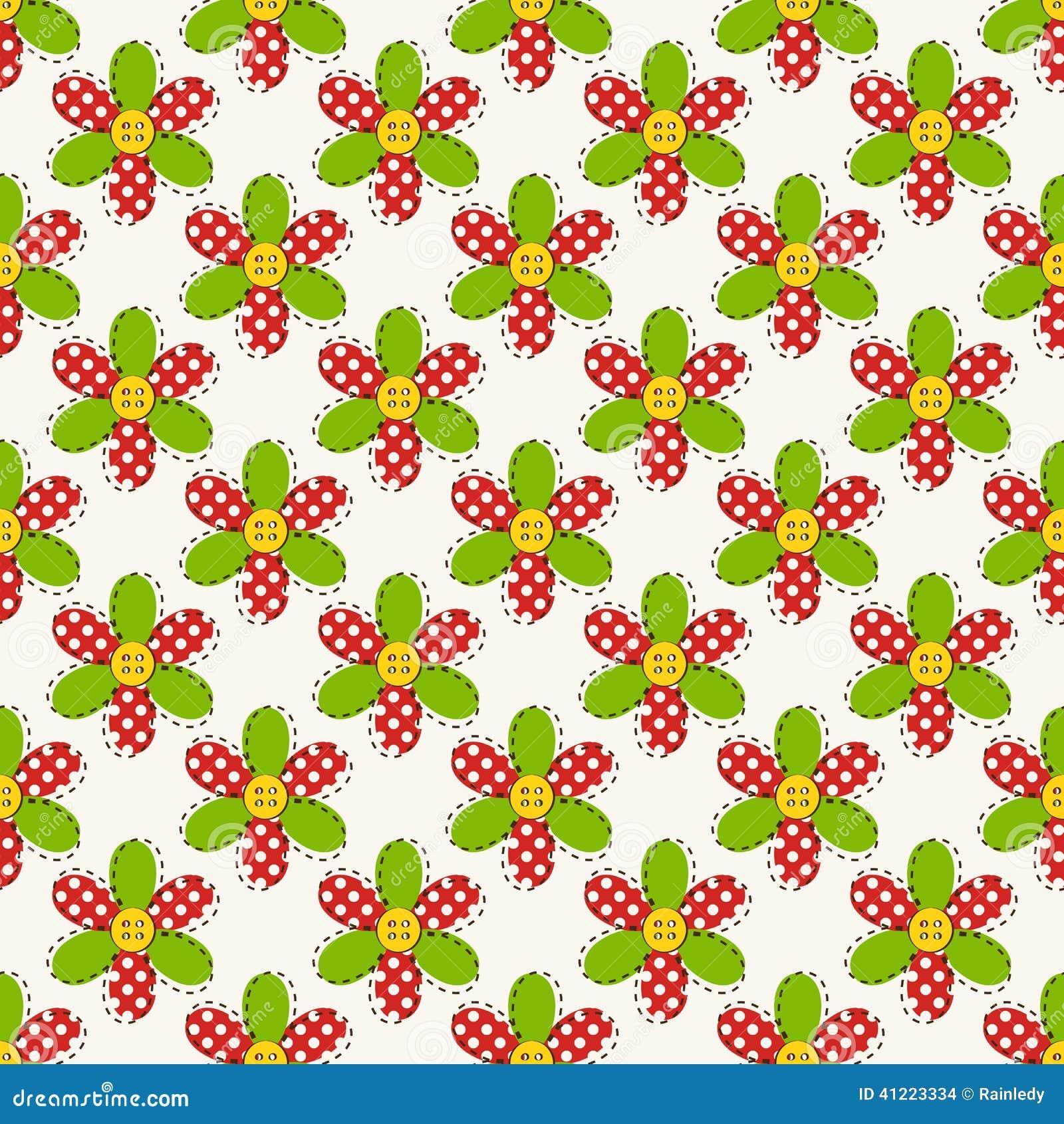 Teste padrão sem emenda com flores Ilustração do vetor