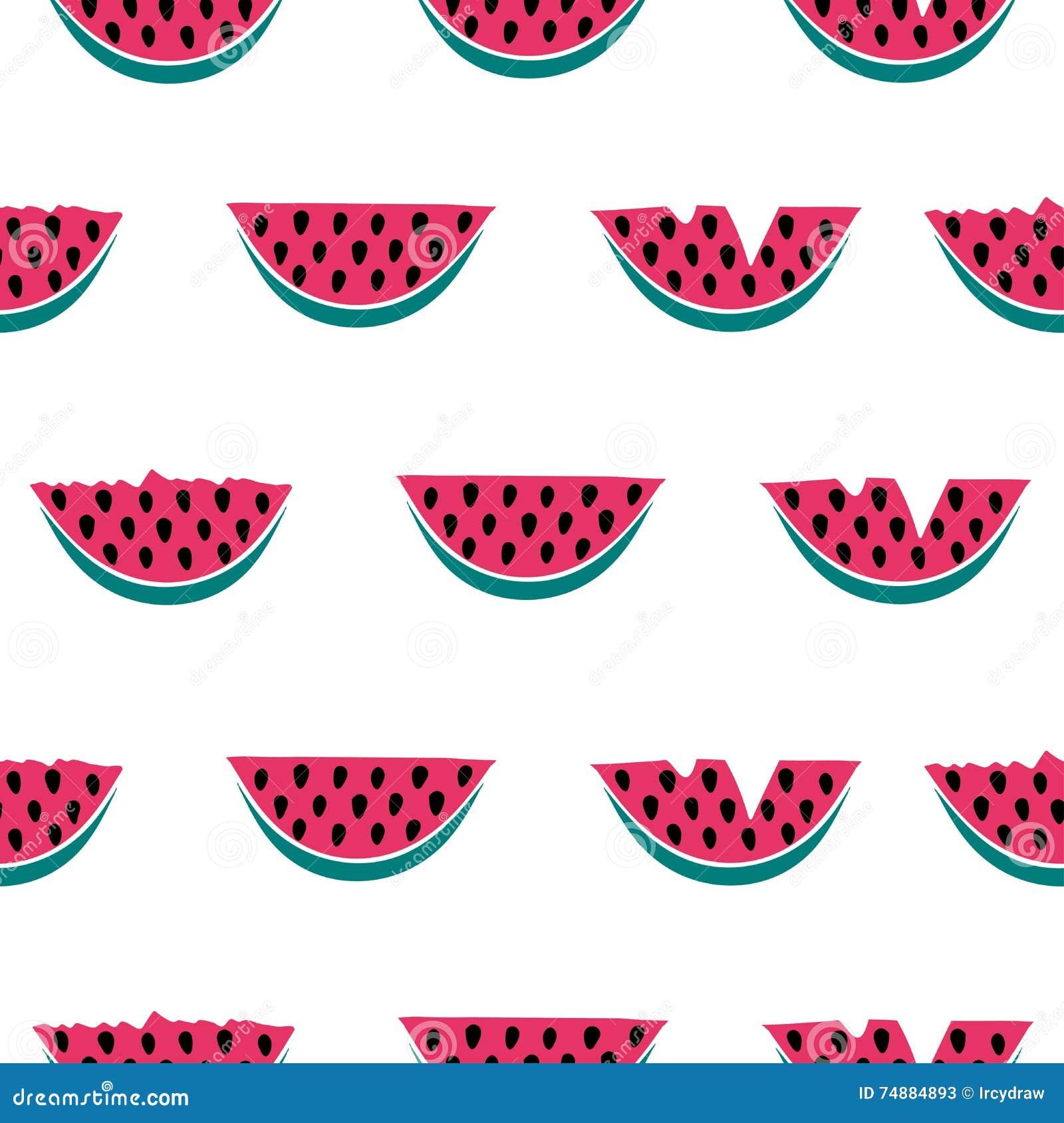 Teste padrão sem emenda com melancia
